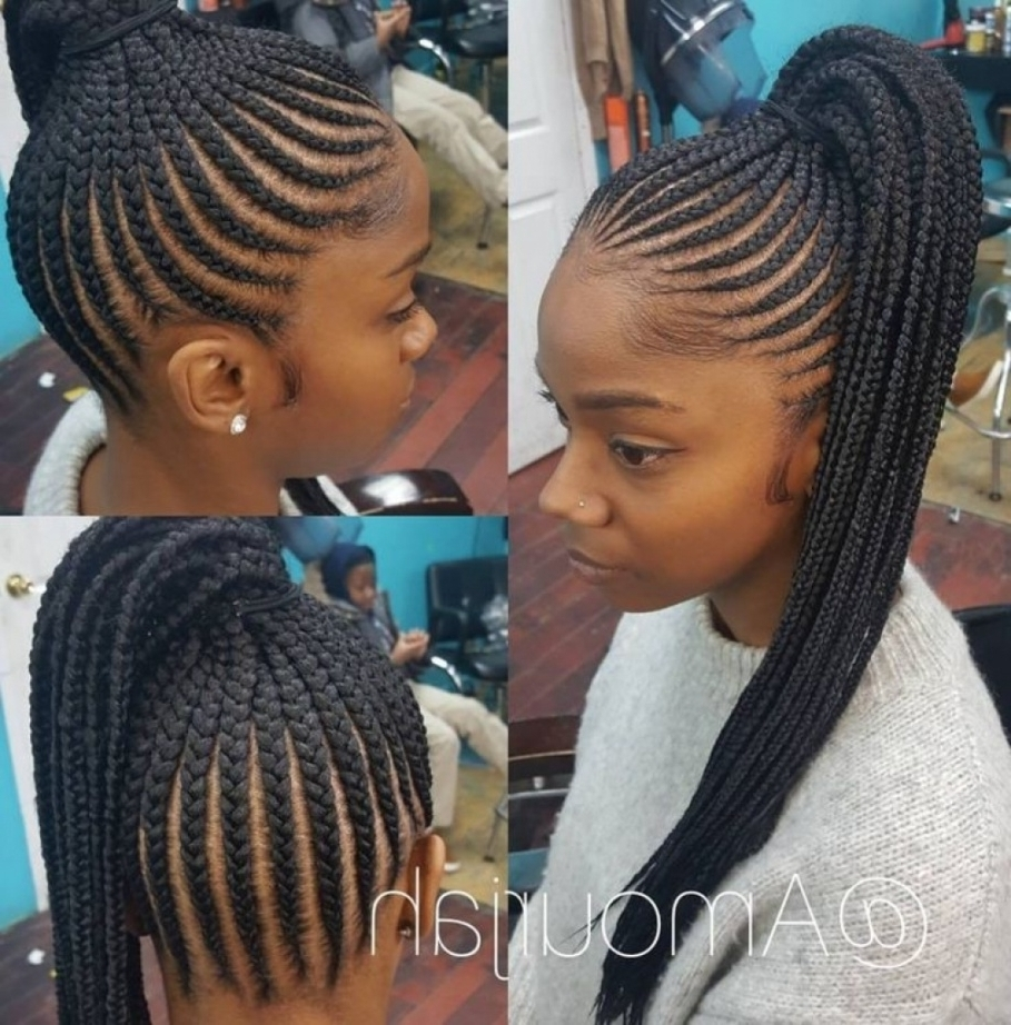 Popular Quick Braided Hairstyles With Weave Regarding Best 25+ Black Braided Hairstyles Ideas On Pinterest Within Braided (View 4 of 15)