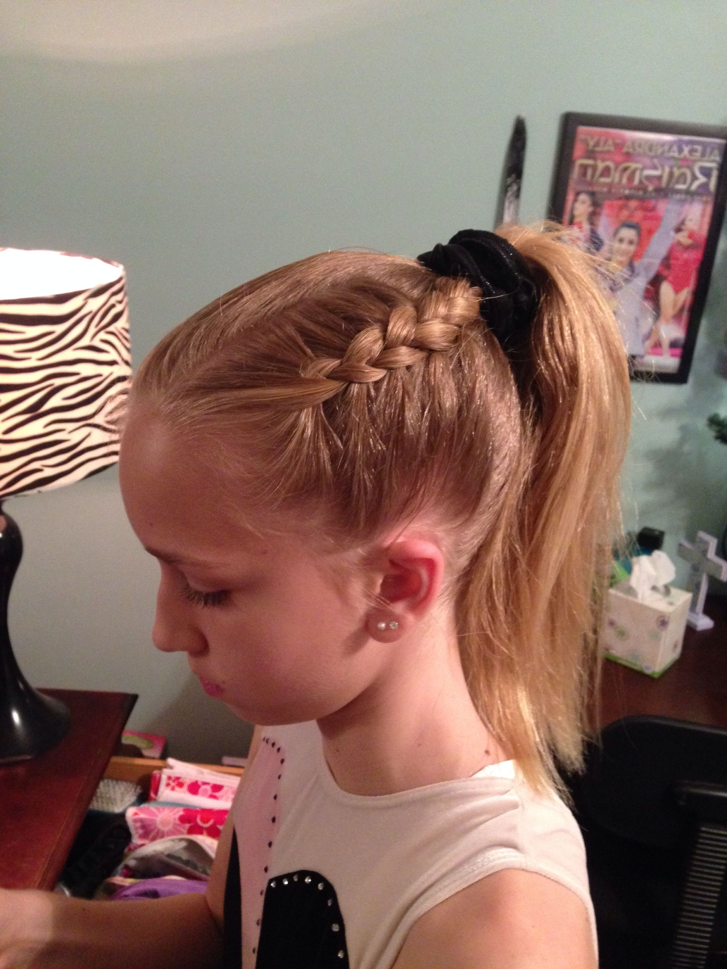 Preferred Braided Gymnastics Hairstyles With Regard To Gymnastics Hairstyle Dutch Braid (View 6 of 15)