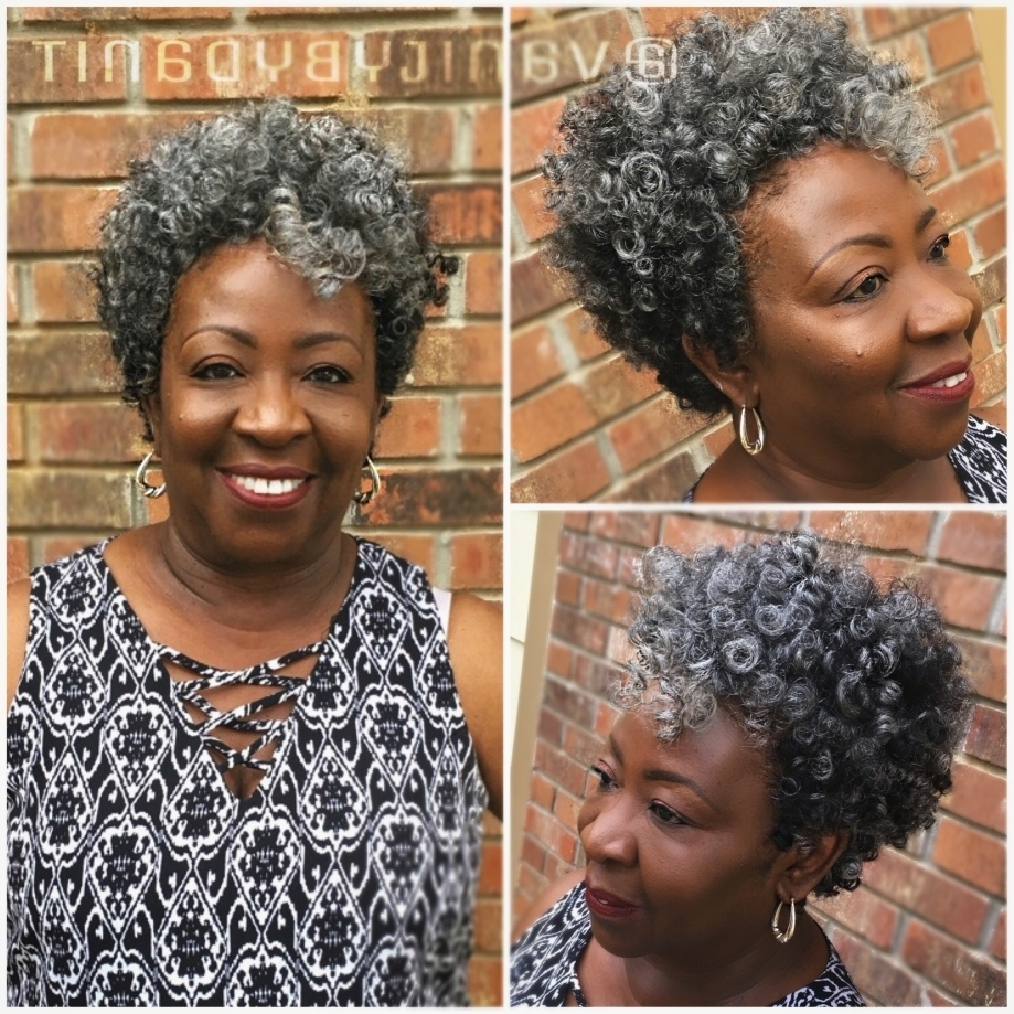 Preferred Braided Hairstyles For Older Ladies Pertaining To Tapered Cut Crochet Braids Using Salt N Pepper Small And Medium (View 12 of 15)