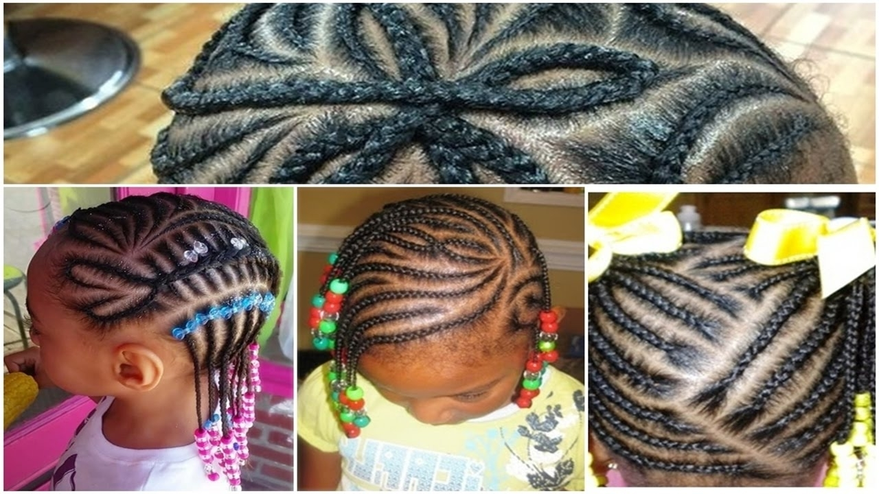 Preferred Braided Hairstyles For Young Ladies Inside Beautiful Black Little Girl Hairstyles With Braids 2017 – Youtube (View 13 of 15)