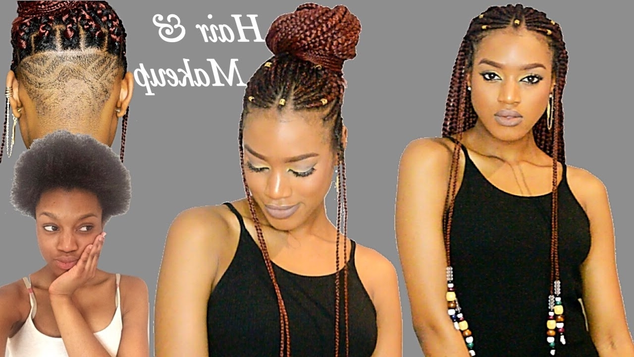 Preferred Braided Hairstyles With Beads Regarding Fulani Braids & Beads + Undercut Transformation (View 11 of 15)