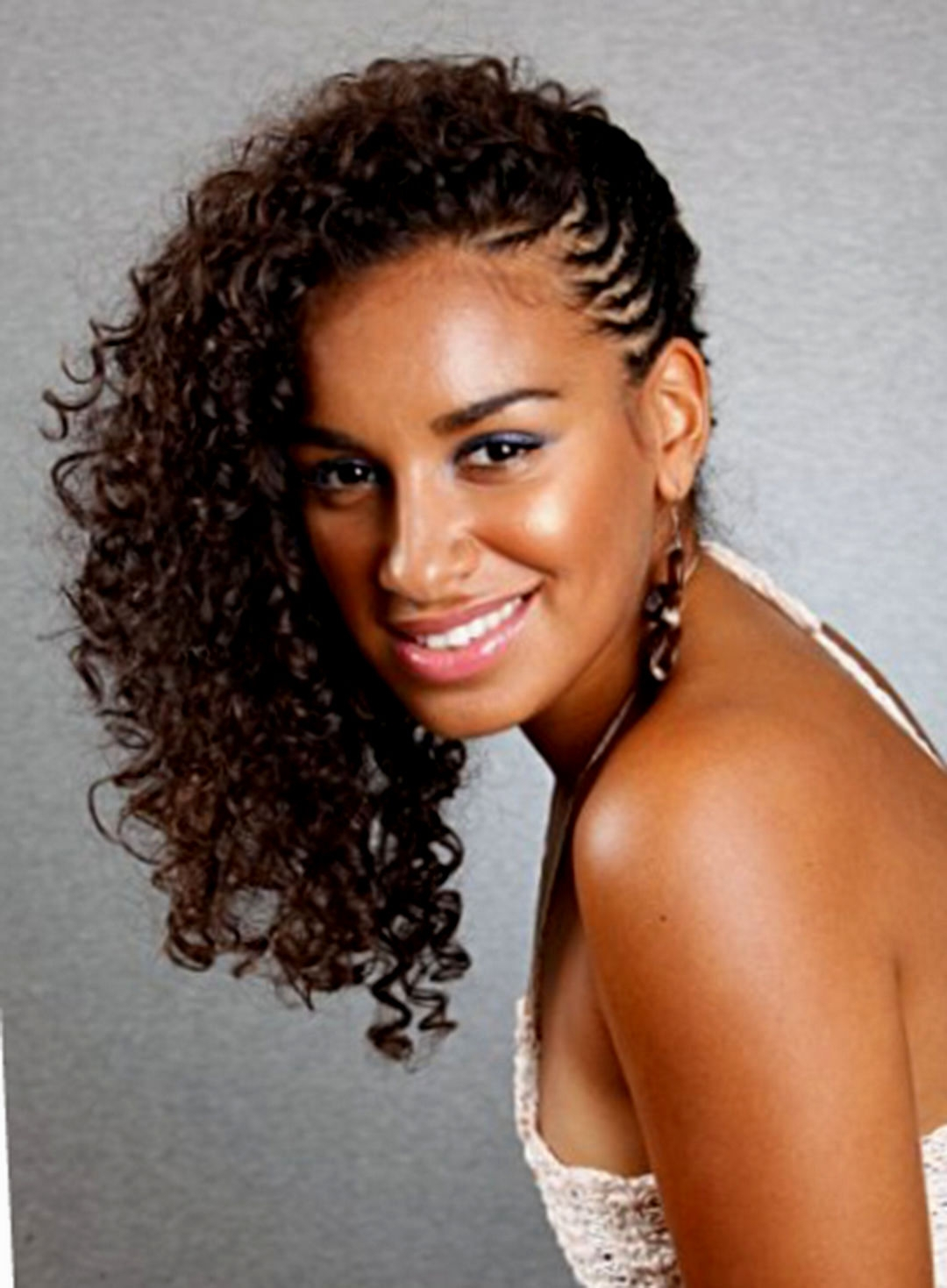 Preferred Braided Hairstyles With Curly Hair Throughout Braided Hairstyles Naturally Curly Hair Easy Of Curly Braiding (View 13 of 15)