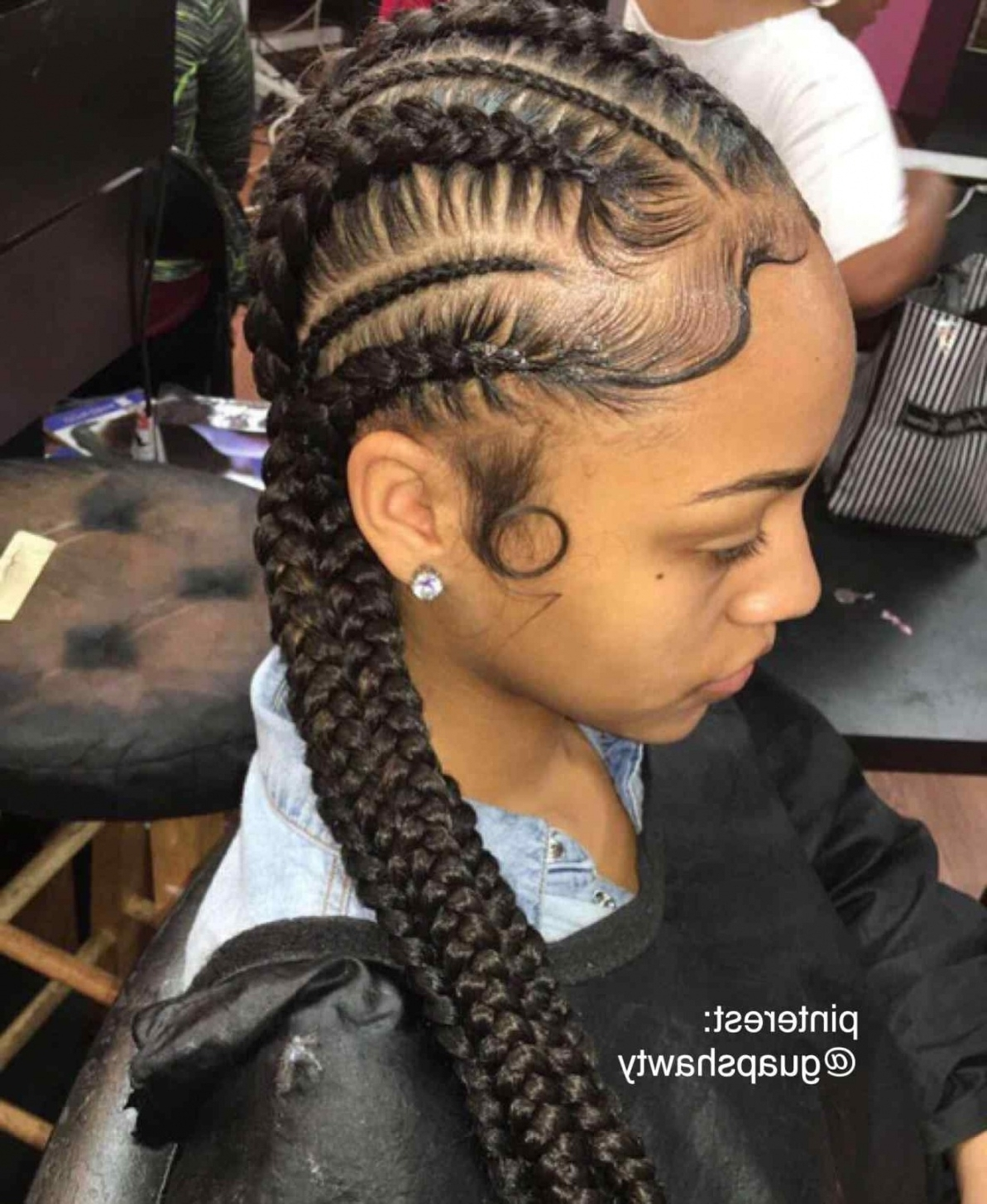 Preferred Braided Hairstyles With Weave With Regard To French Braids Hairstyles With Weave Top 15 Black Braided Hairstyles (View 14 of 15)