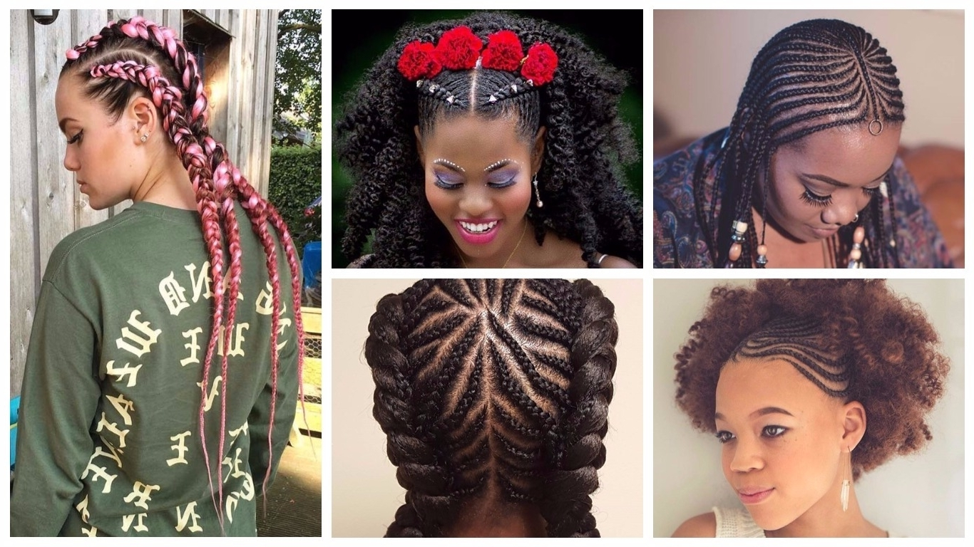 Preferred Cornrows Braid Hairstyles Throughout Chic Cornrow Braids Hairstyles (View 14 of 15)
