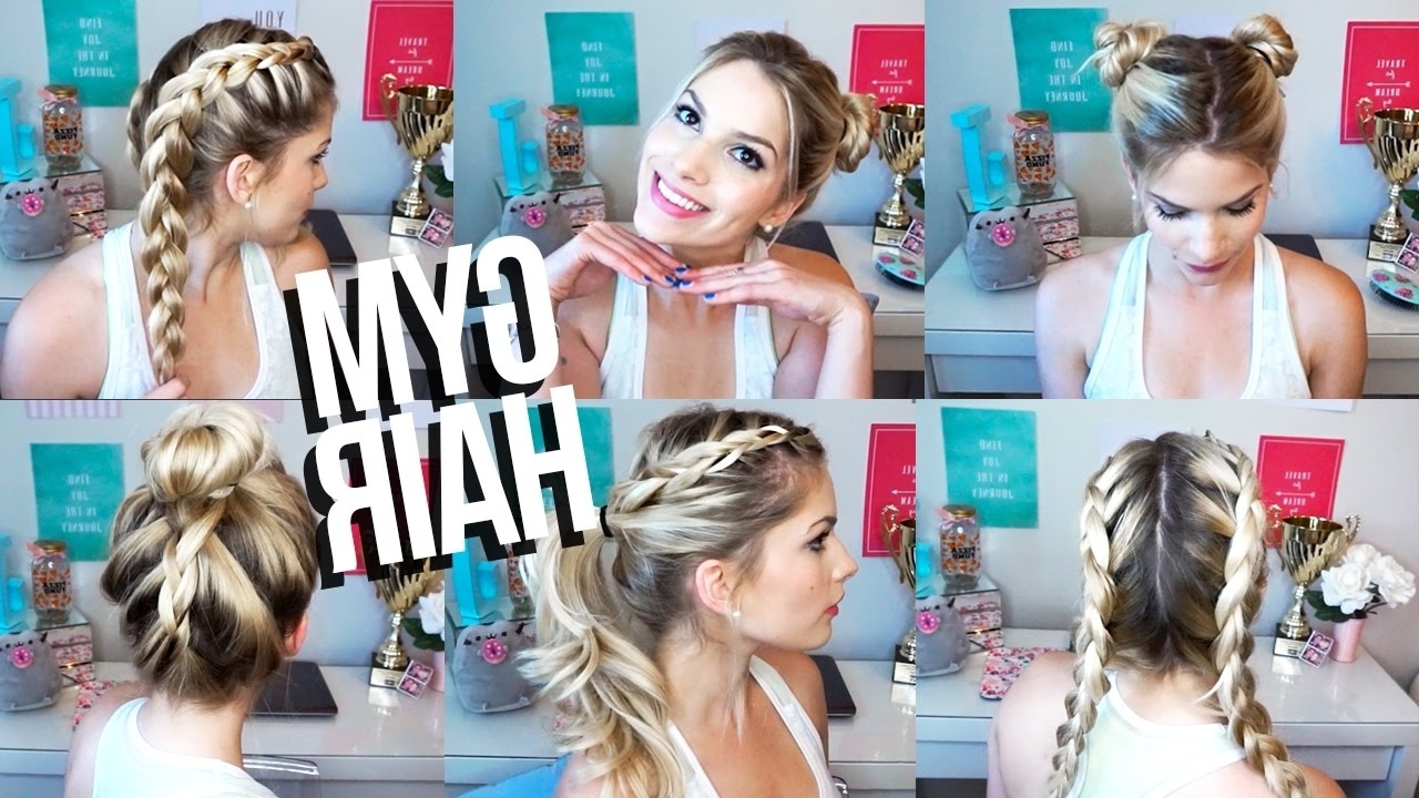 Quick & Easy Gym Hairstyles! ♡ – Youtube With Regard To Widely Used Braided Gymnastics Hairstyles (View 14 of 15)