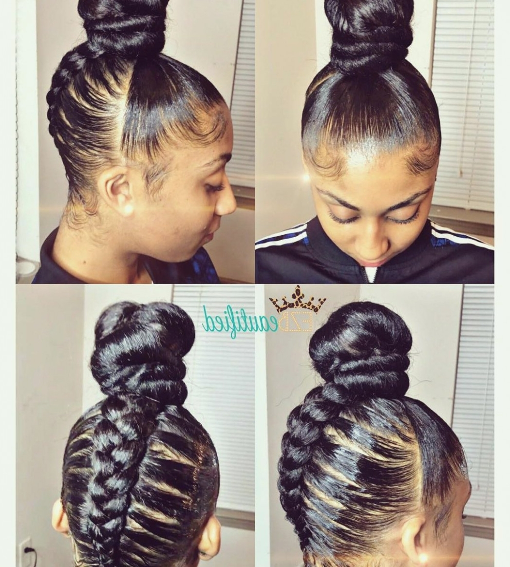 Quick Easy Ponytail Braids Hairstyles For Women Braided With Stock Inside Trendy Quick Braided Hairstyles For Black Hair (View 13 of 15)