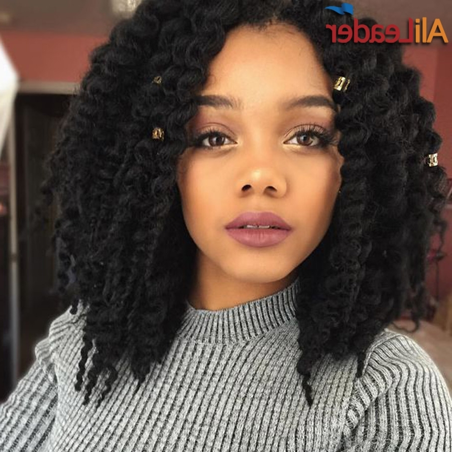 Quick Weave Hairstyles For Black Hair Extension Braid Styles Natural Regarding Most Recently Released Braided Extension Hairstyles (Gallery 6 of 15)