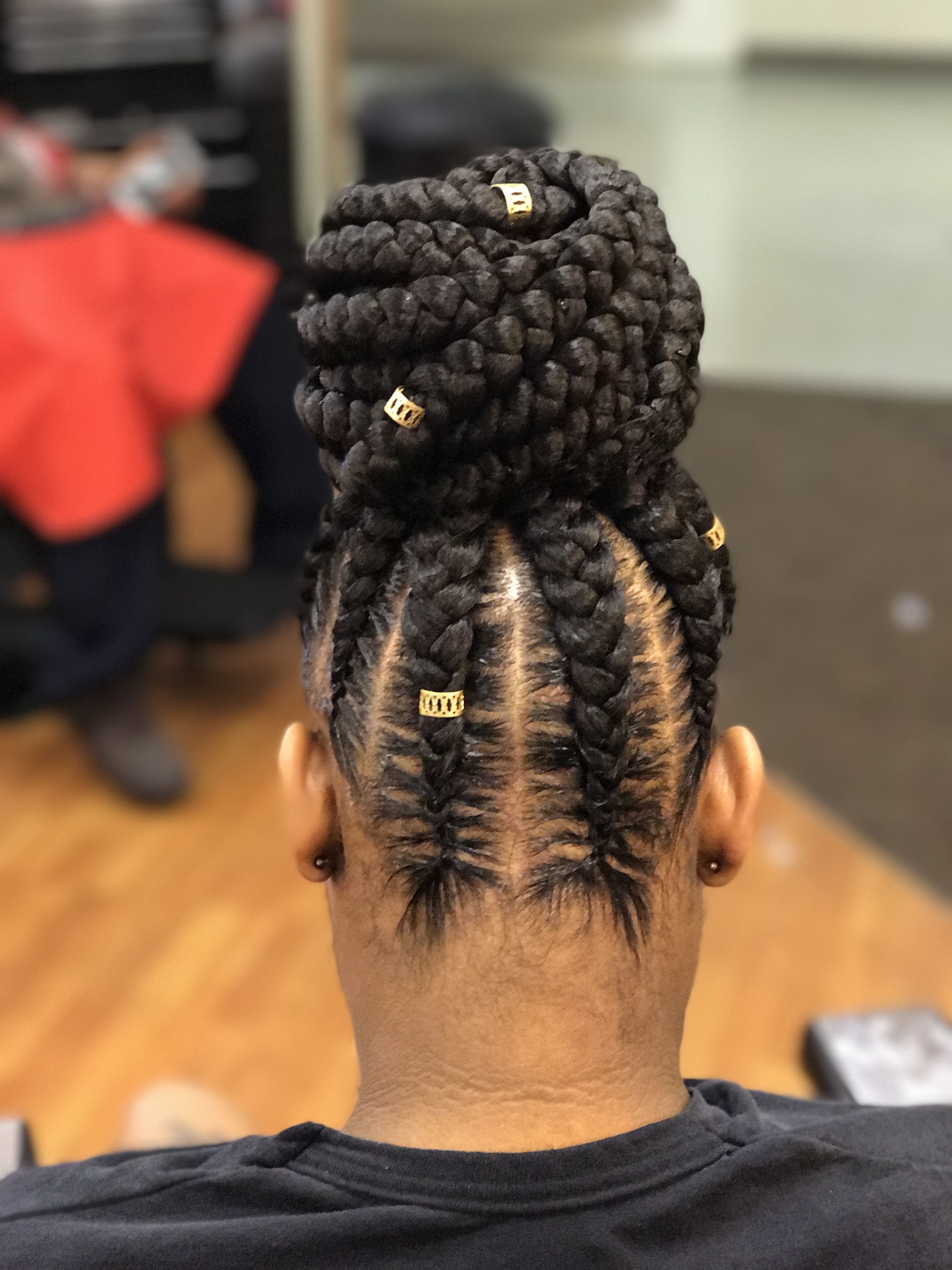 Recent African American Braided Bun Hairstyles With Regard To Feed In Braids #bun #braidedhairstyles #feedinbraids (View 13 of 15)