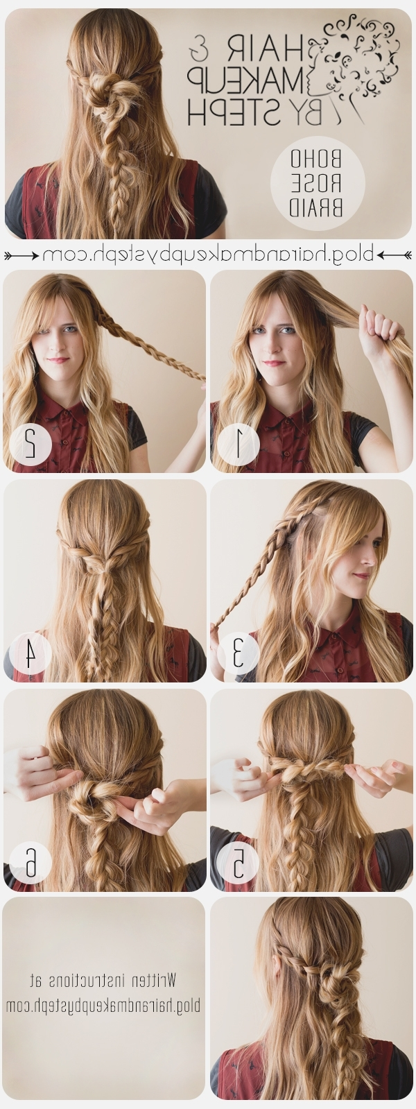 Recent Boho Braided Hairstyles With How To Make A Boho Braid: Boho Braided Hair Tutorials You Must Love (View 14 of 15)