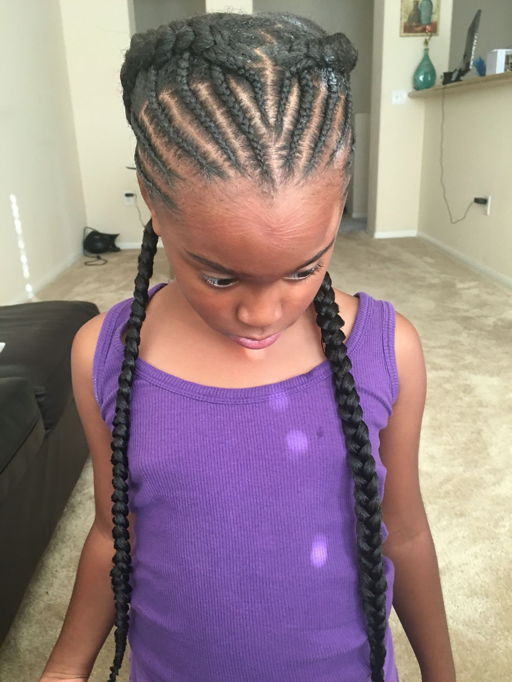 Recent Braided Hairstyles With Fake Hair Inside Goddess Braids, Half Braided, Halo, Beehive, Black Girl Hair (View 14 of 15)