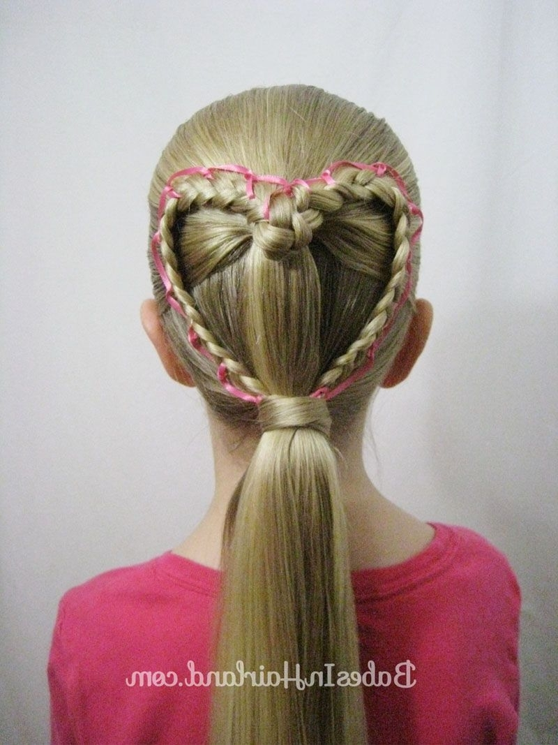 Recent Braided Ribbon Hairstyles In Ribbon Laced Heart (Gallery 7 of 15)