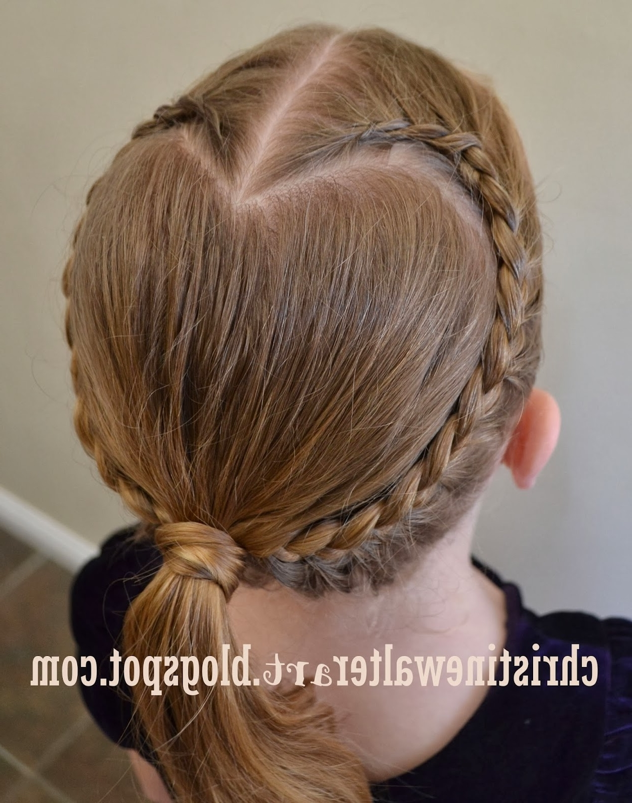 Recent Heart Braided Hairstyles Pertaining To Artwork, Writings And Recipes Of Christine Walter: Heart French (Gallery 13 of 15)