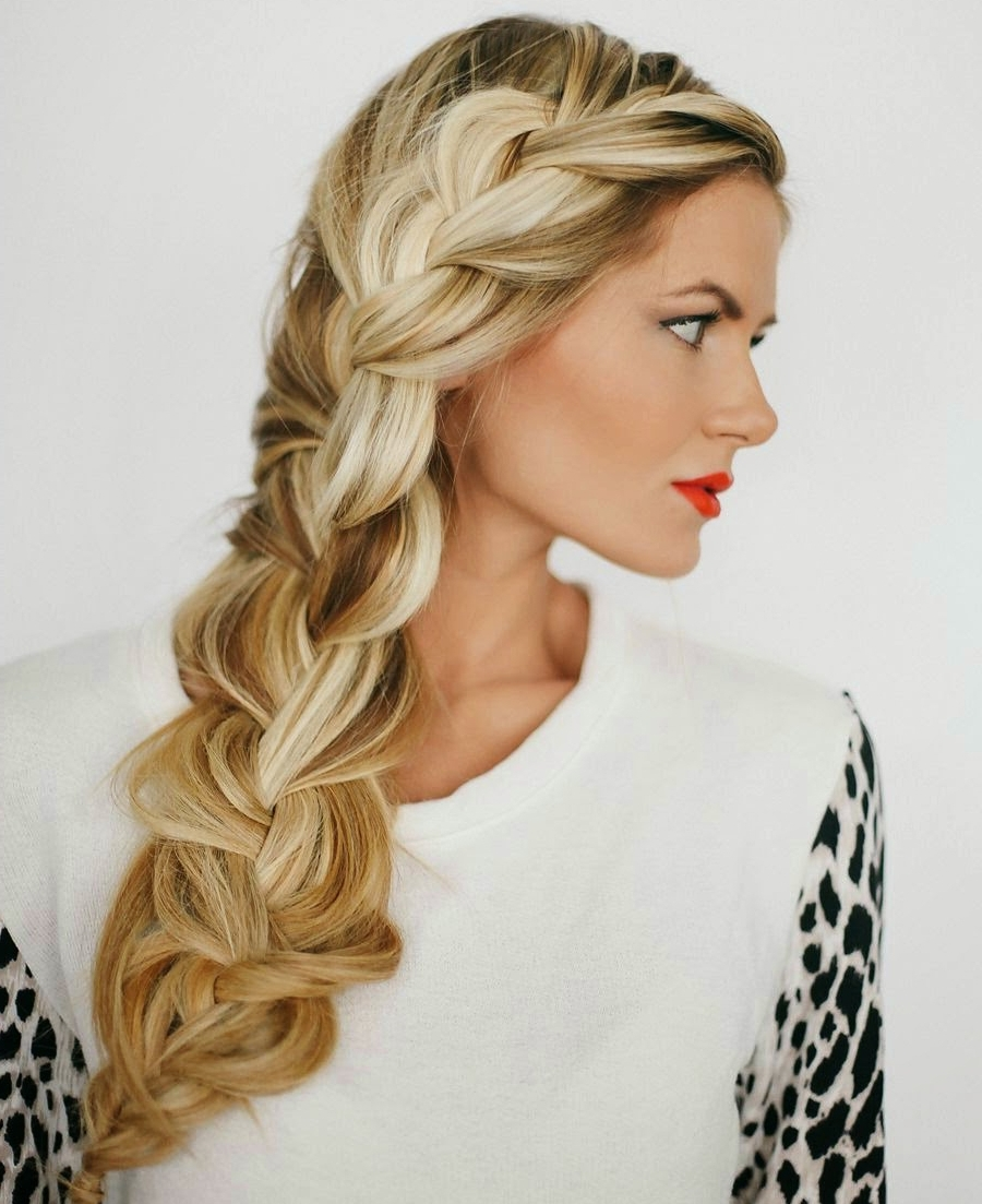 Recent Long Braided Hairstyles Within Chic Loose Side Braided Hairstyles For Long Hair Simple Of Braided (View 11 of 15)