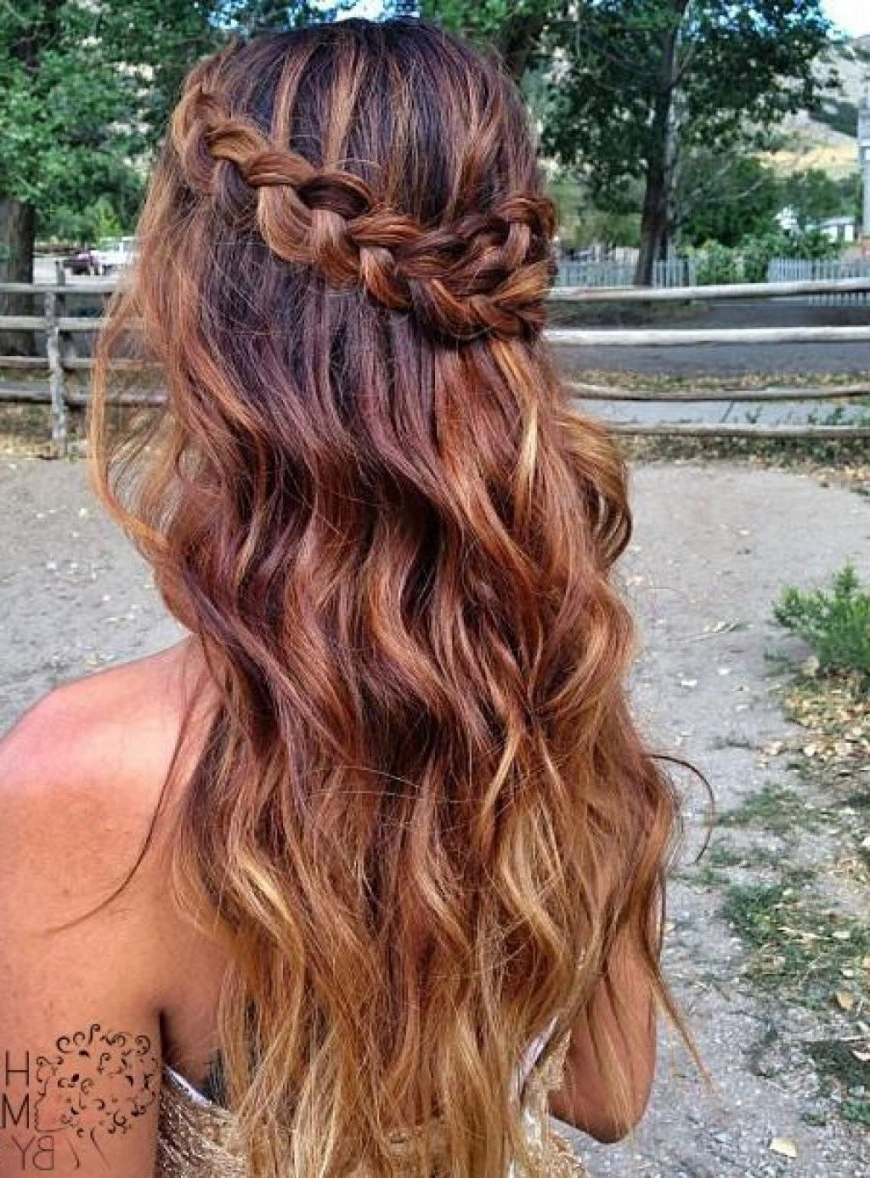 Recent Prom Braided Hairstyles For Prom Hairstyles Down With Headband (View 7 of 15)