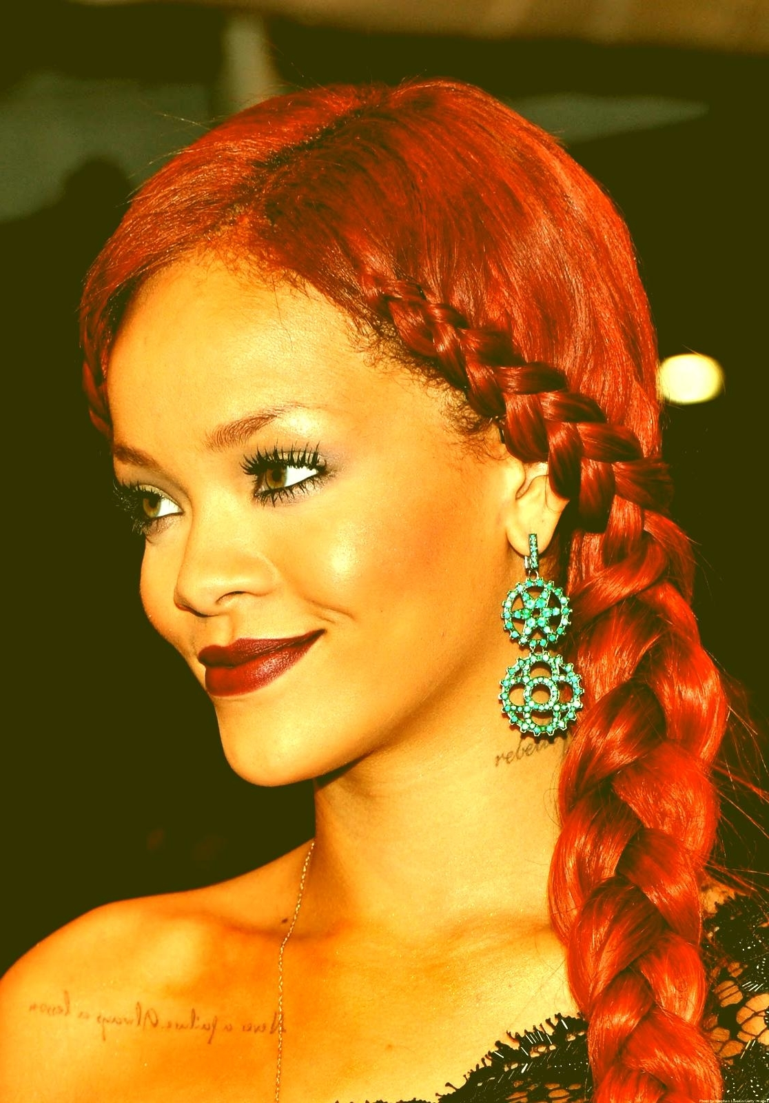 Rihanna Braids Hairstyle Cute Braided Hairstyles For 2012 Ideas For Current Rihanna Braided Hairstyles (View 14 of 15)
