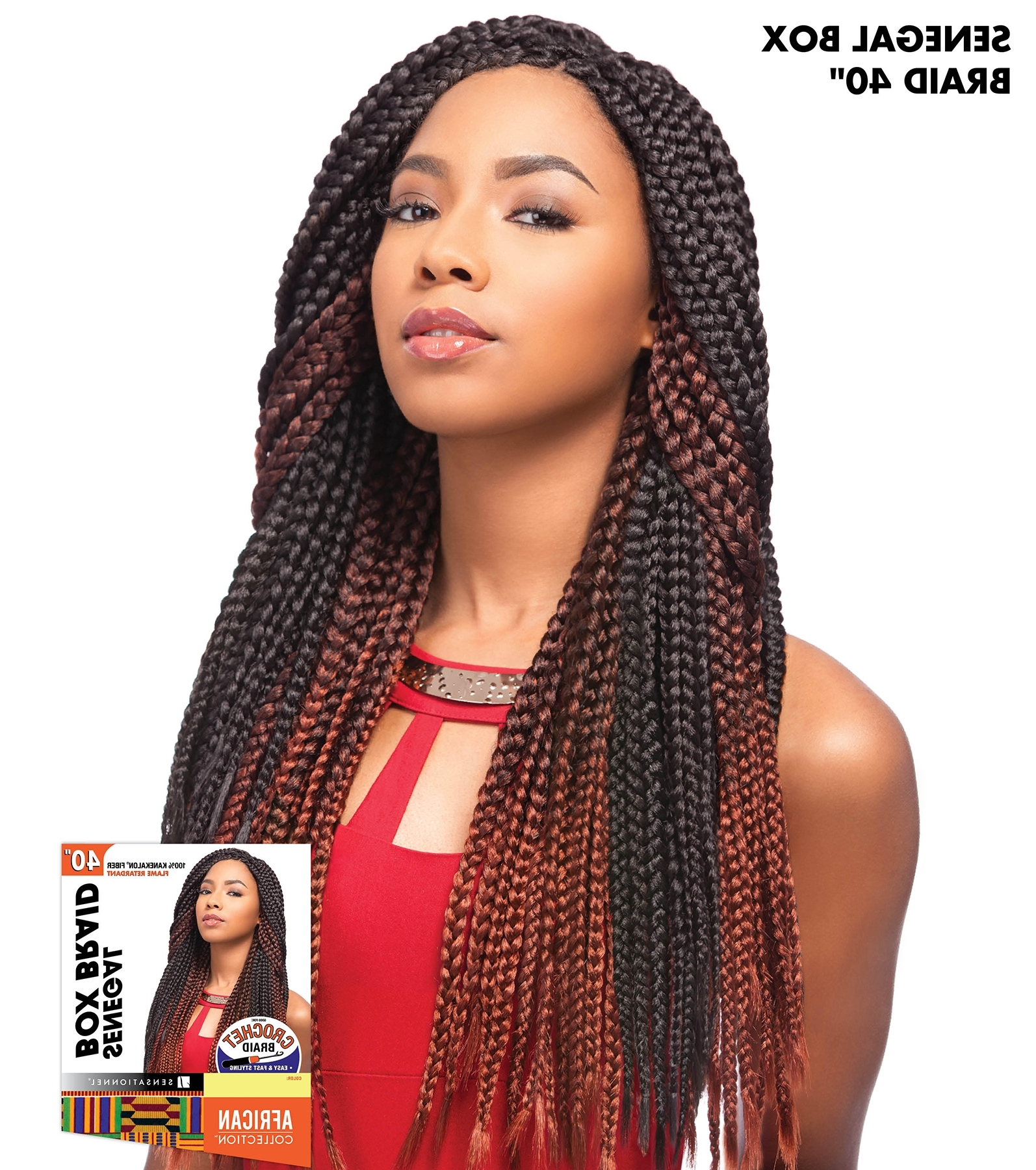 "Senegal Box Braid 40"" – Sensationnel Crochet Braiding Hair Extension Throughout Current Braided Hairstyles With Crochet (View 11 of 15)"