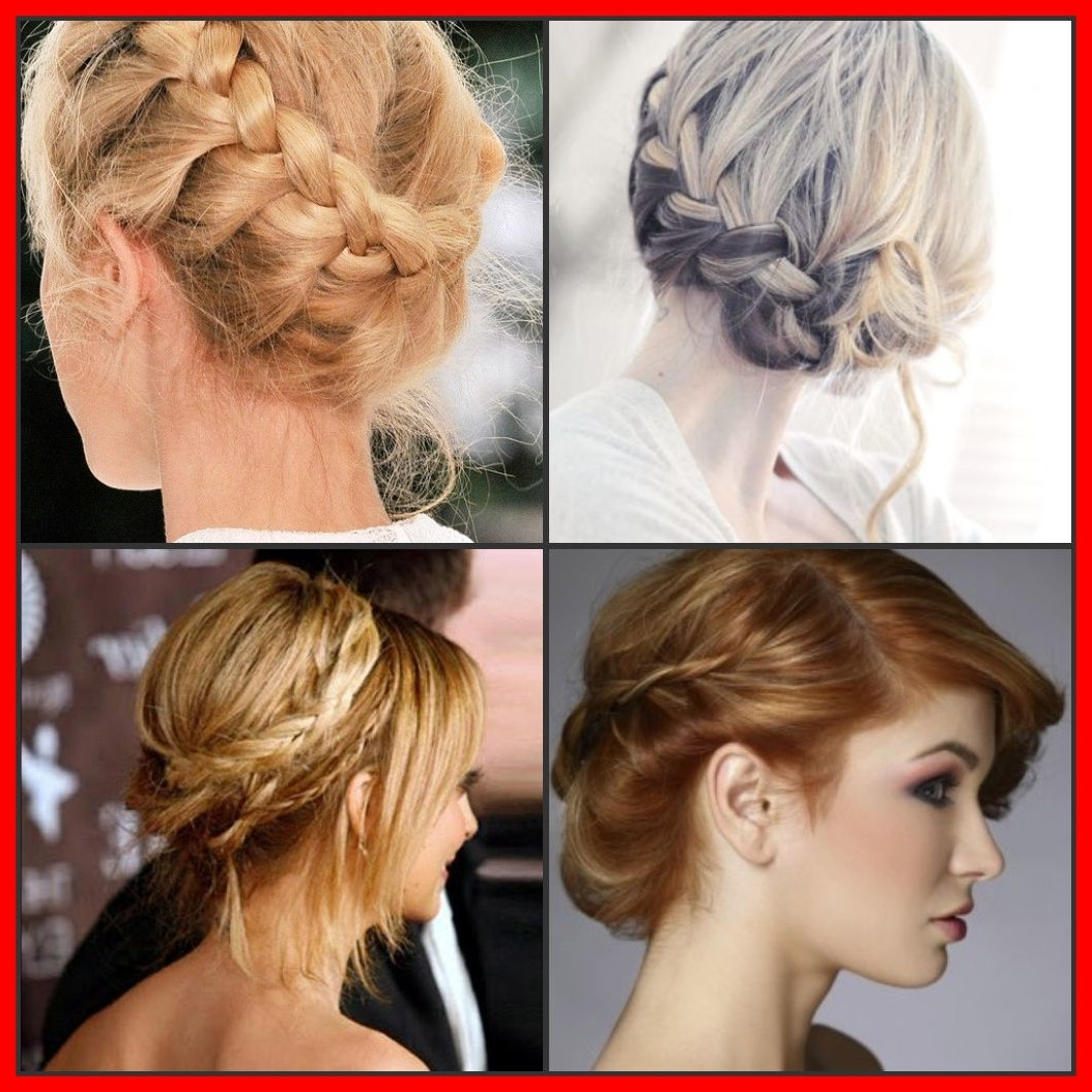 Shocking Braided Updos Hairstyles Up Dos And Pict For Wedding With Inside Widely Used Braided Updo Hairstyles For Short Hair (View 13 of 15)