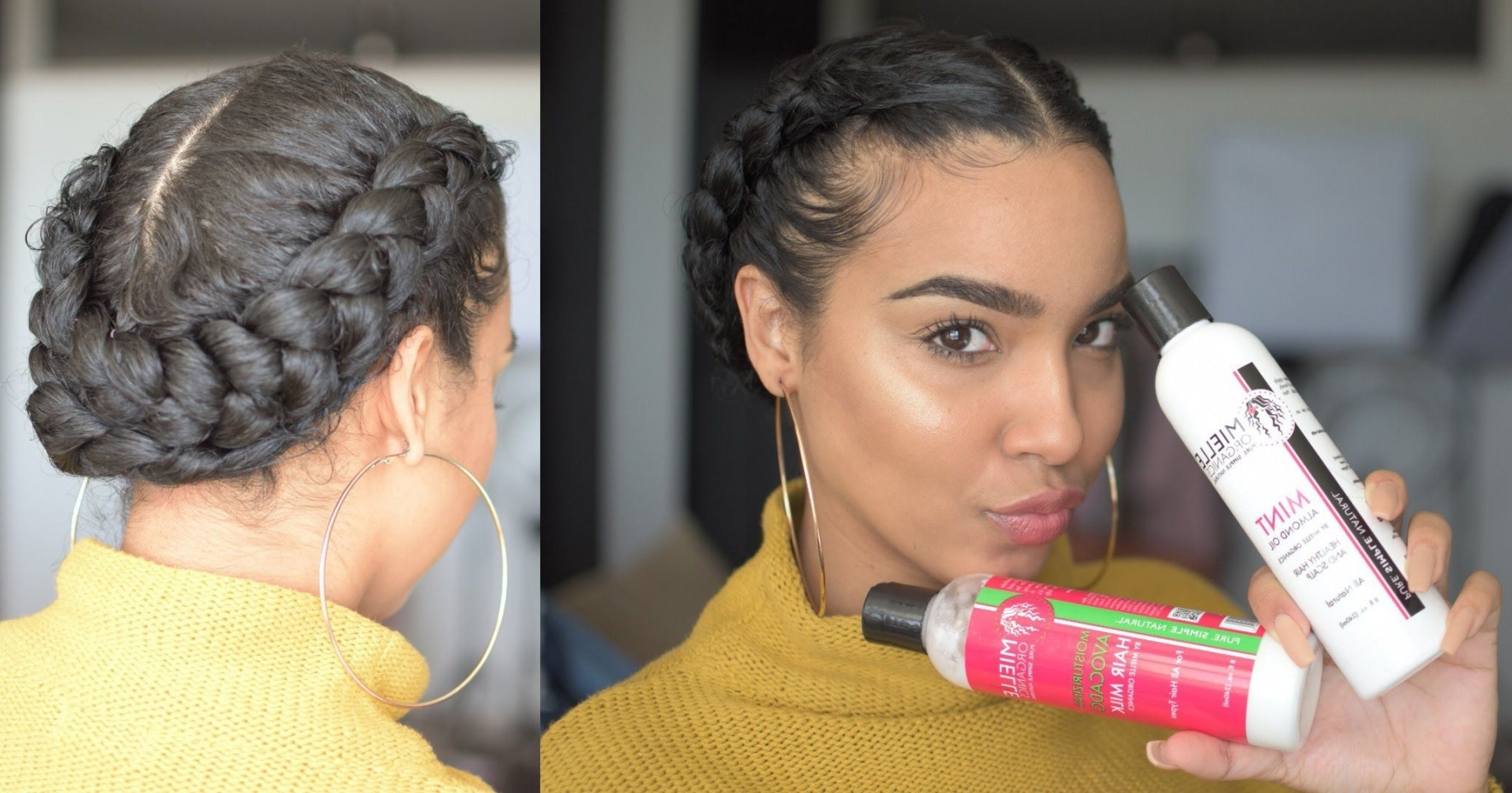 Shocking Quick Braided Hairstyles For Natural Hair Elegant And Easy Regarding Most Recent Braided Hairstyles With Real Hair (View 10 of 15)