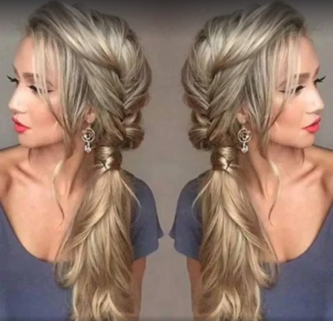 Side Braid Hairstyles Are The Ultimate Cure For A Lifeless Mop Of Intended For Popular Side Braid Hairstyles For Long Hair (View 14 of 15)