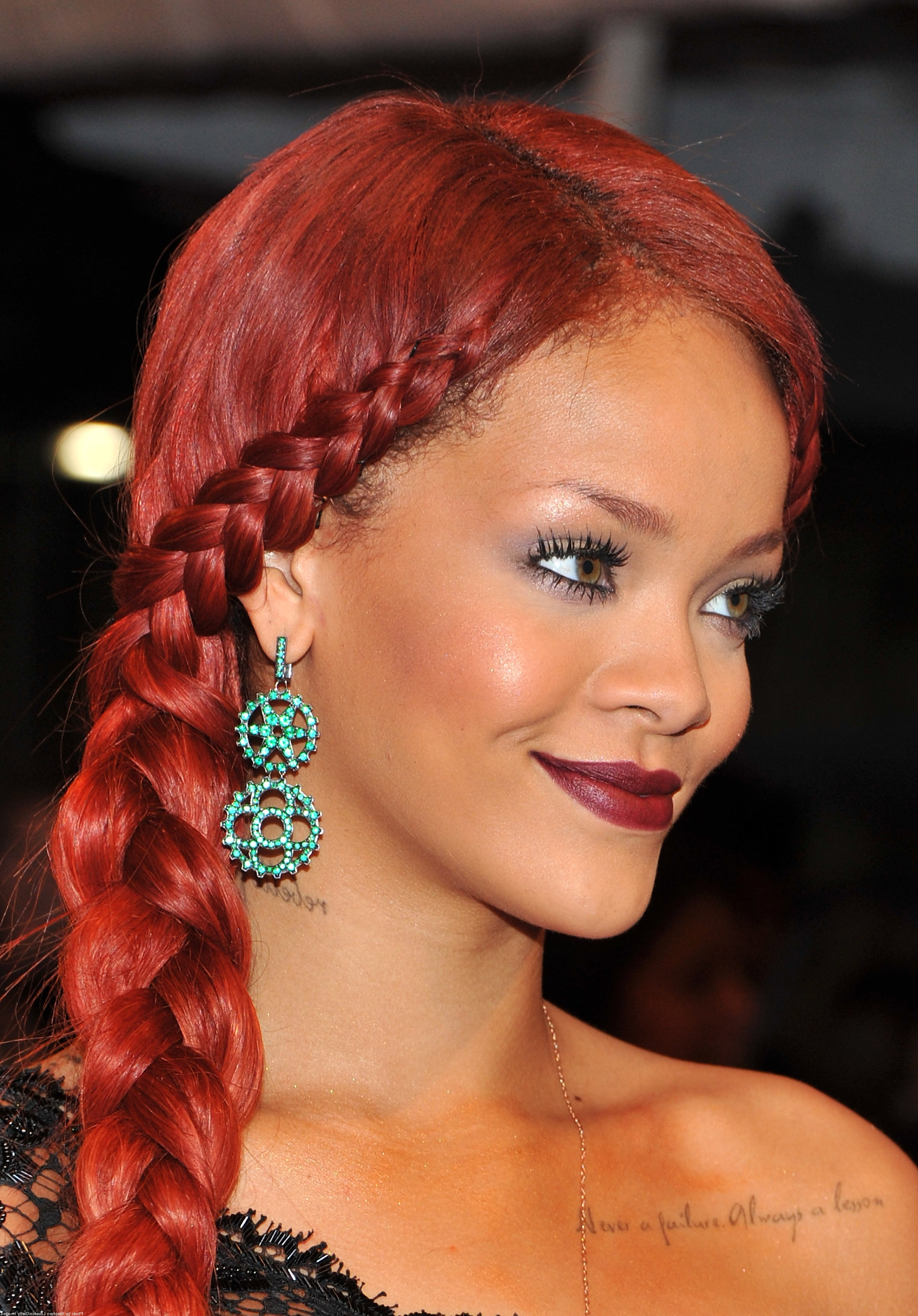 Side Braid Hairstyles Easy Of Braided Hairstyles To The Side Inside Most Popular Red Braided Hairstyles (View 14 of 15)