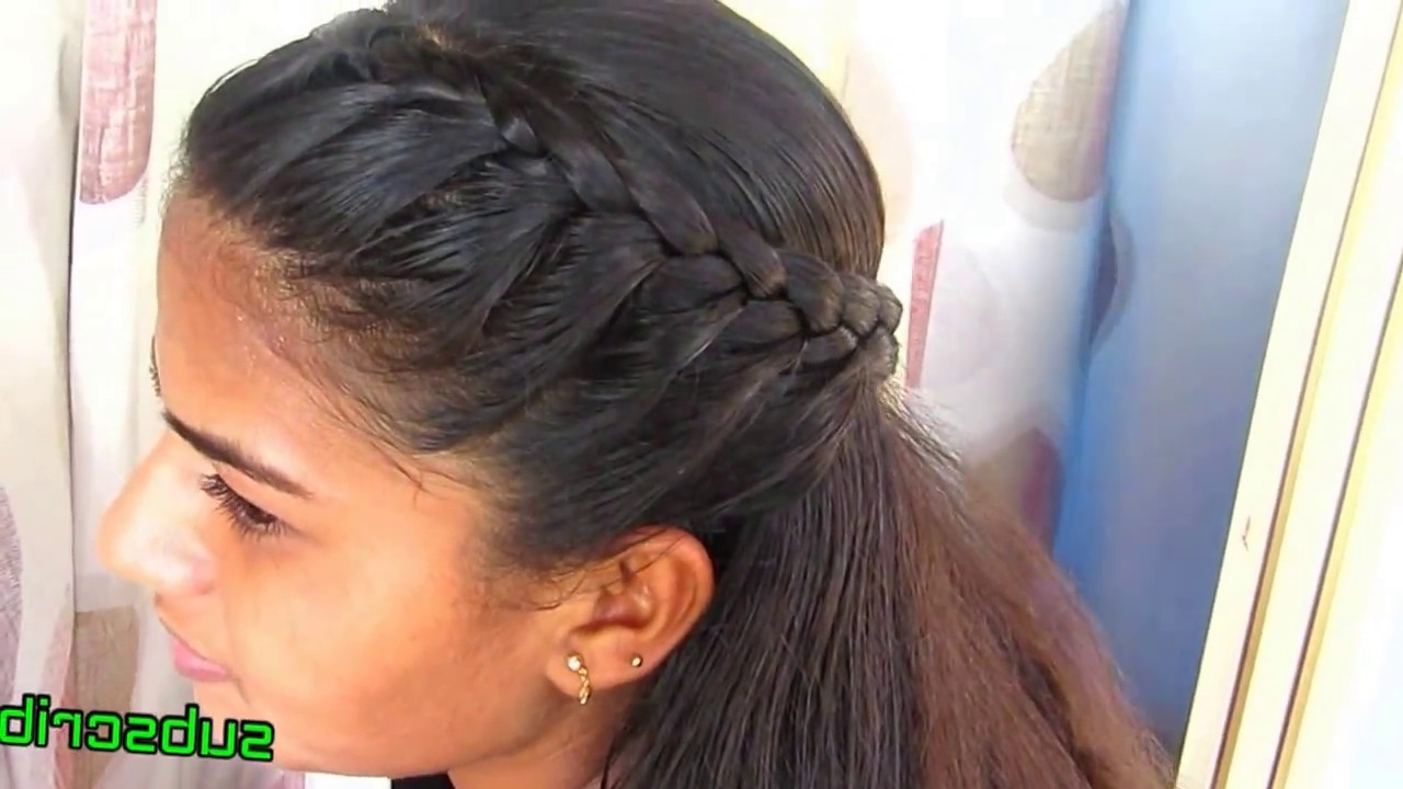 Simple Side Braid Hairstyle – Youtube For Best And Newest Side Braid Hairstyles (View 14 of 15)