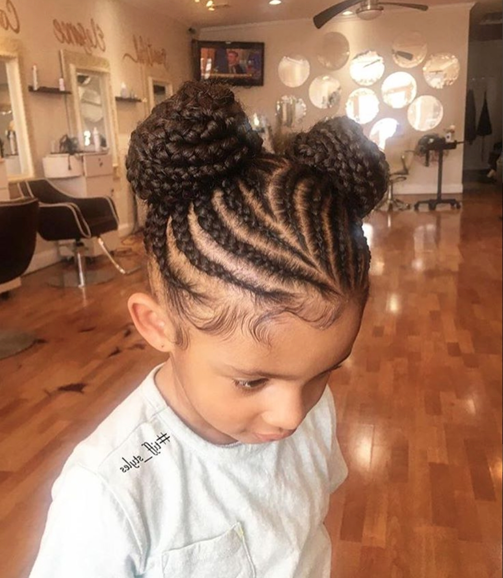 So Adorable Via @tiff Styles – Https://blackhairinformation Within Fashionable Braided Hairstyles For Little Black Girls (View 3 of 15)