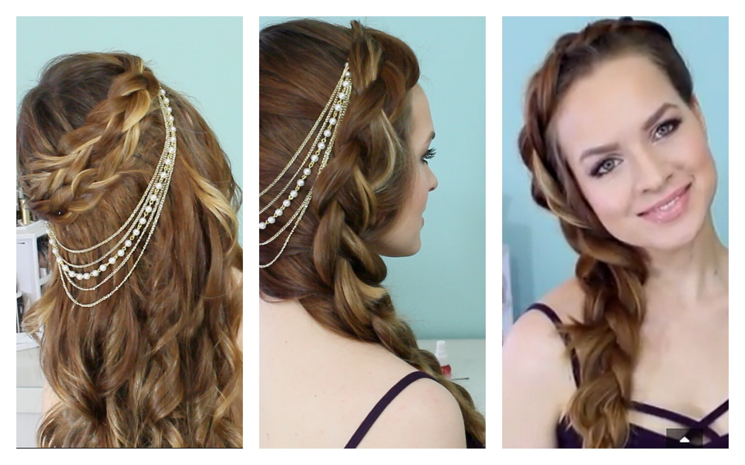Spring And Summer Time Braids + Hair Jewelry – Youtube Pertaining To Well Known Braided Hairstyles With Jewelry (View 2 of 15)