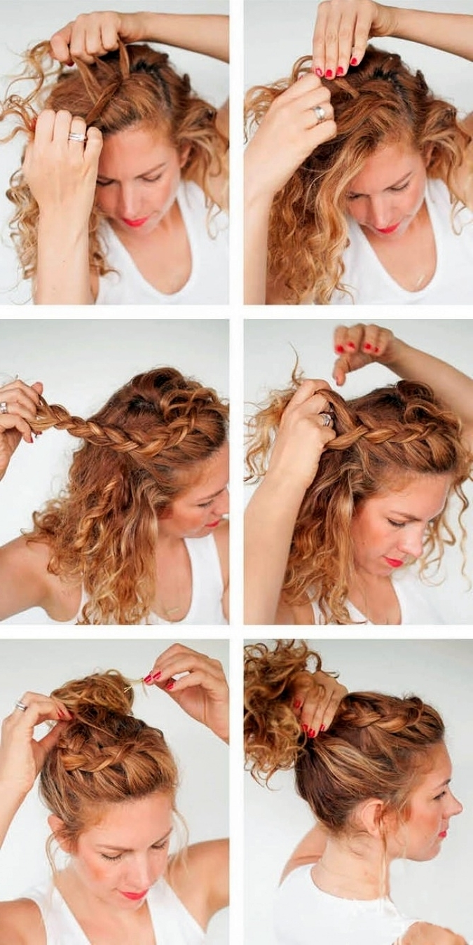 Staggering Braided Hairstyles With Curls Ideas Hair Side Braid With Most Recently Released Braided Hairstyles For Curly Hair (View 11 of 15)