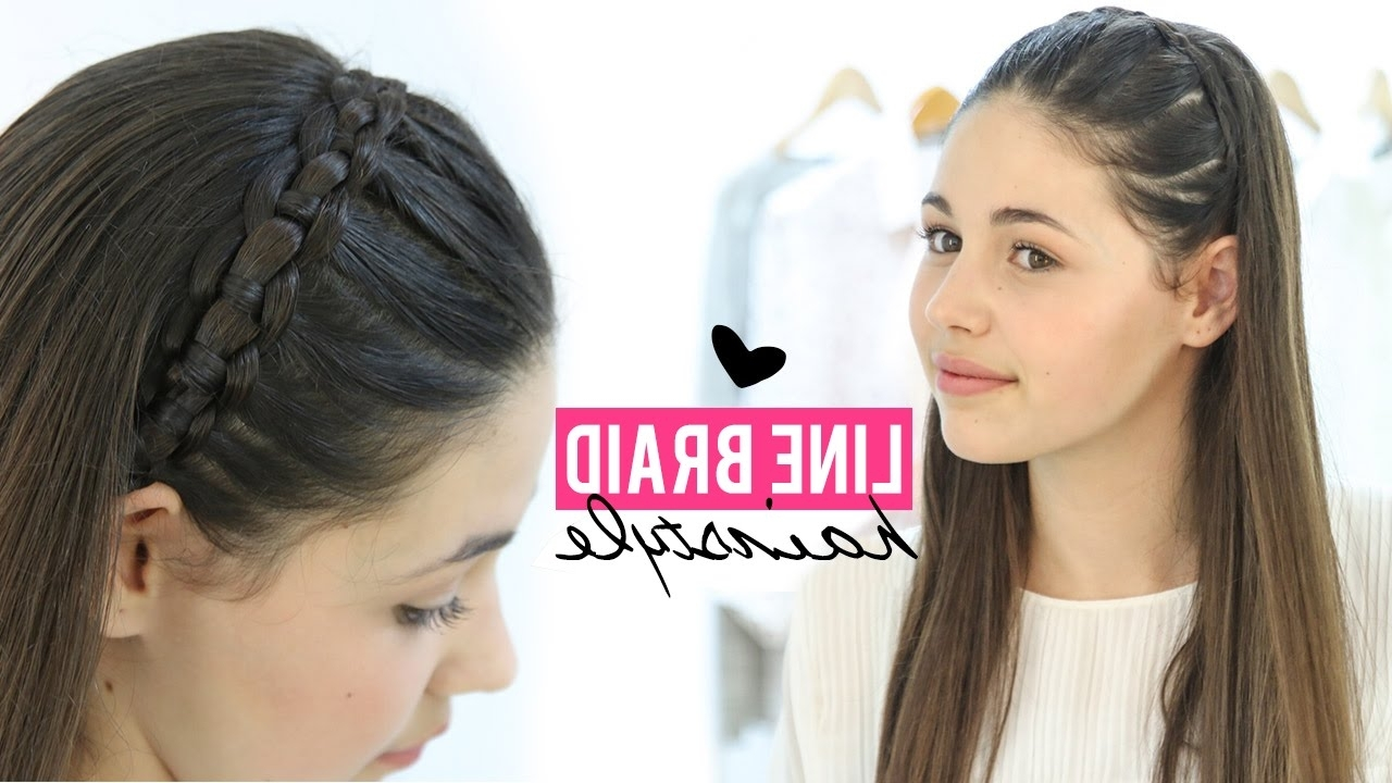 Stepstep – Youtube Intended For Well Liked Braided Lines Hairstyles (View 15 of 15)