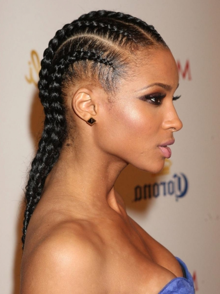 Straight Back Hairstyles For Black Hair Straight Back Braids With Regard To Favorite Braided Hairstyles To The Back (View 8 of 15)