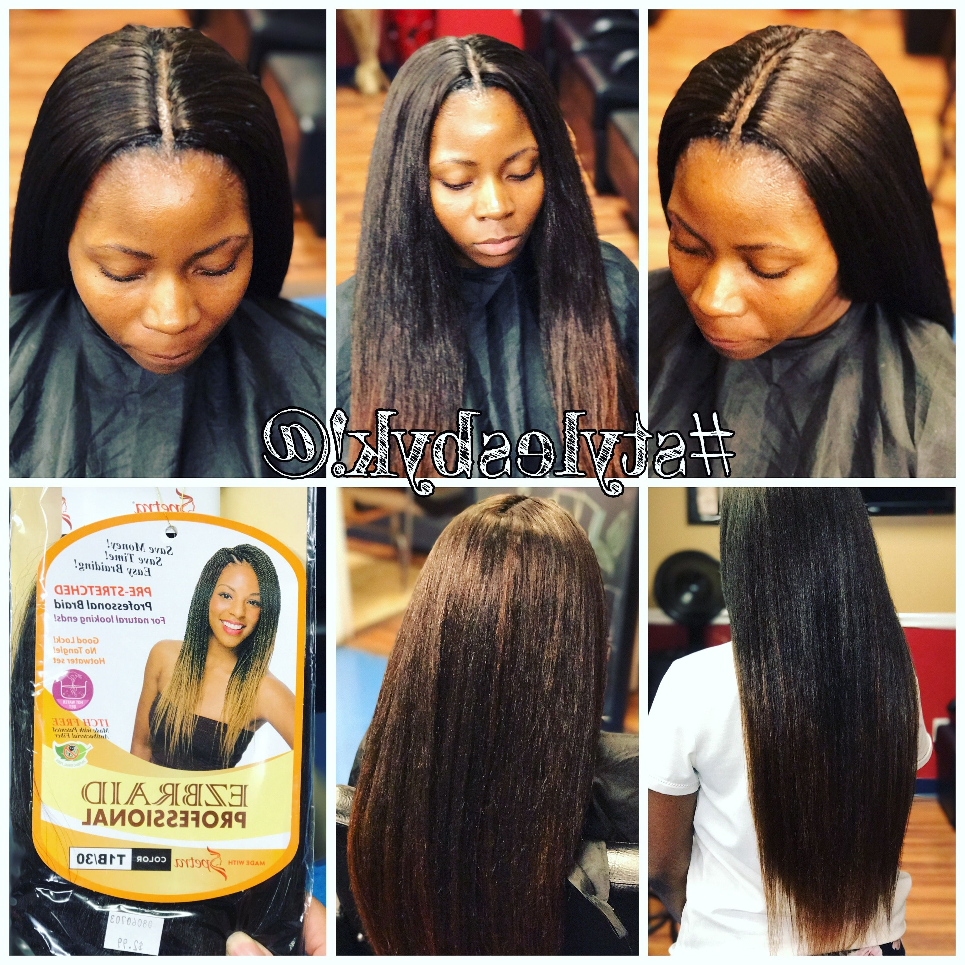 Straight Crochet Braids On Natural Hair Using Ez Braid Braiding Hair For Recent Braided Hairstyles With Crochet (View 12 of 15)