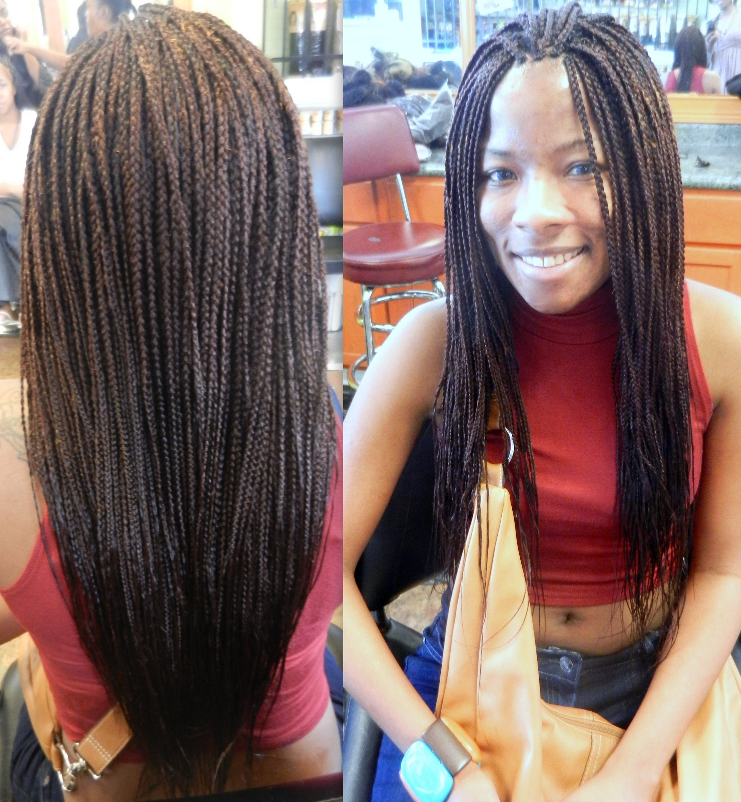 The Types Of Box Braid Hairstyles To Try 2018 – Best Hairstyles Trend Regarding 2018 Singles Braided Hairstyles (View 3 of 15)