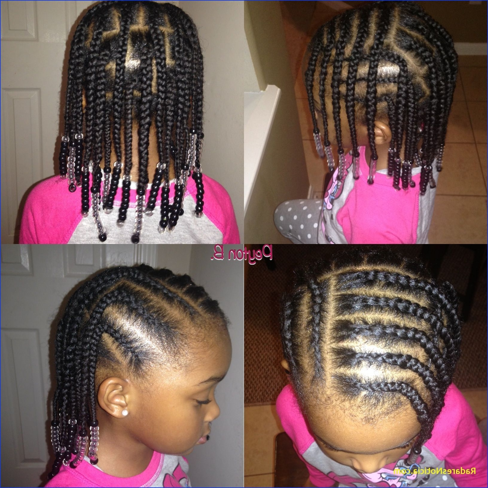 Toddler Braiding Hairstyles Box Braids Cornrows Beads Natural With Well Known Toddlers Braided Hairstyles (View 14 of 15)