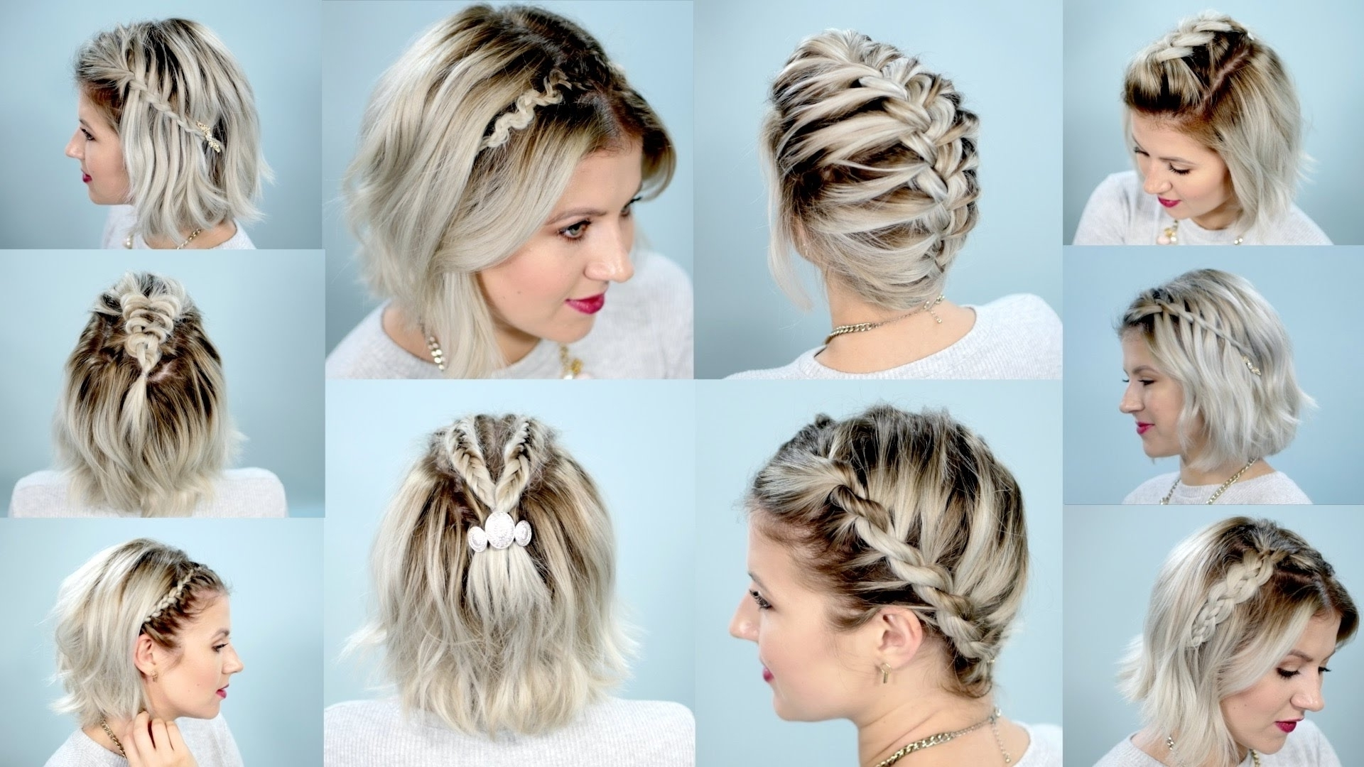 Top 10 Easy Braid Hairstyles For Short Hair With Current Braided Hairstyles For Short Hair (View 5 of 15)