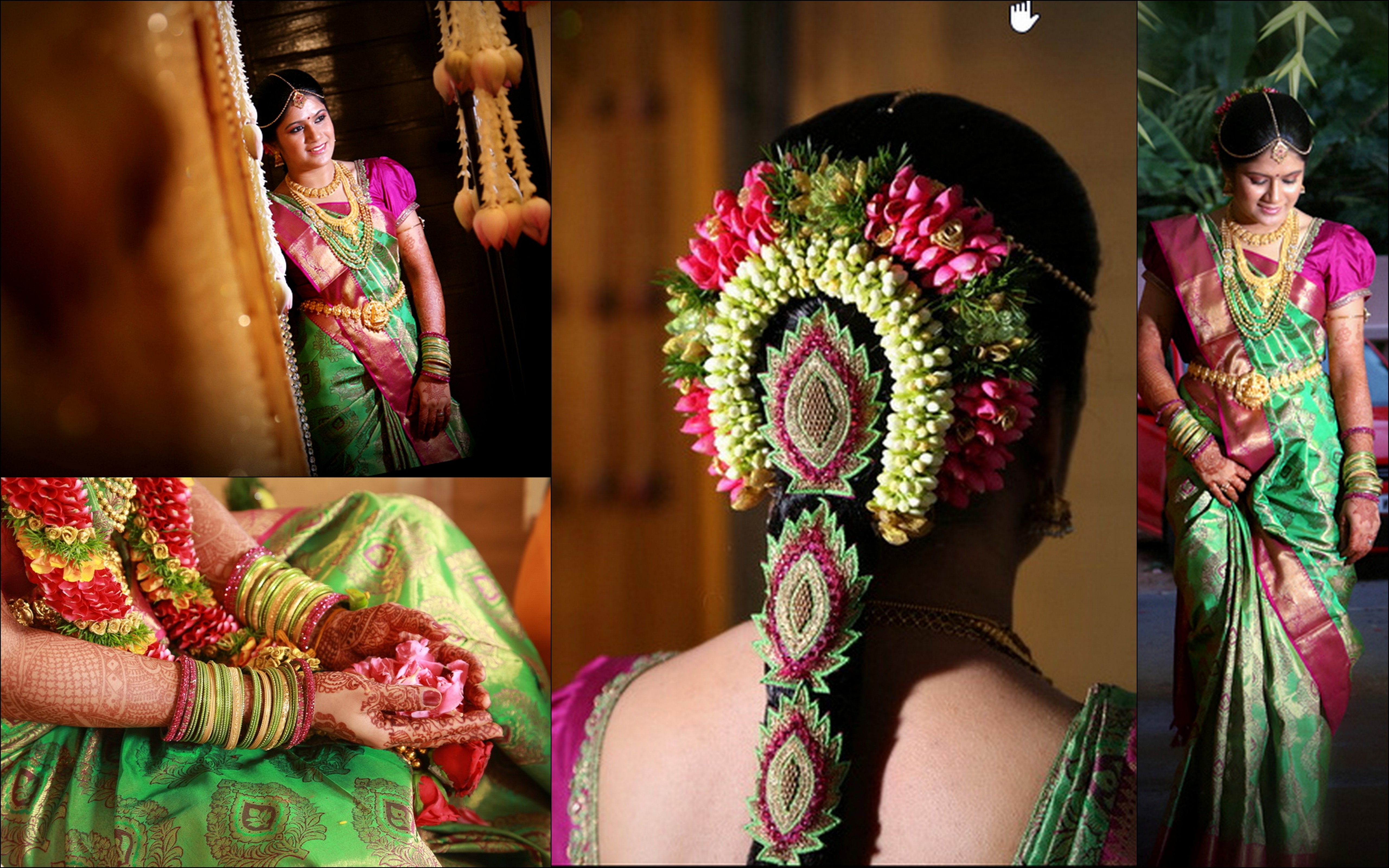 Top 30 Most Beautiful Indian Wedding Bridal Hairstyles For Every Length Inside Current Braid Hairstyles For Reception (View 13 of 15)