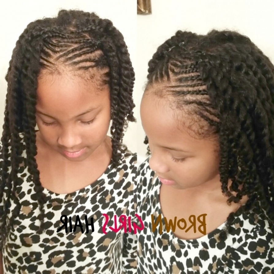 Trendy Black Girl Braided Hairstyles Intended For Top Ten Trends In Little Girl Braided Hairstyles To Watch (View 14 of 15)