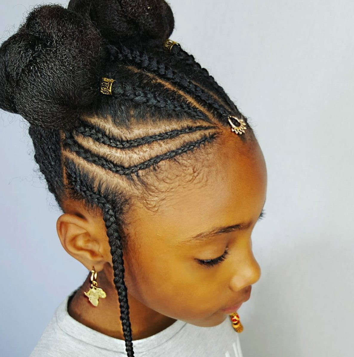 Trendy Braid Hairstyles For Little Girl Inside Braid Hairstyles : Little Girl Braids Hairstyles Little Black Girl (View 15 of 15)