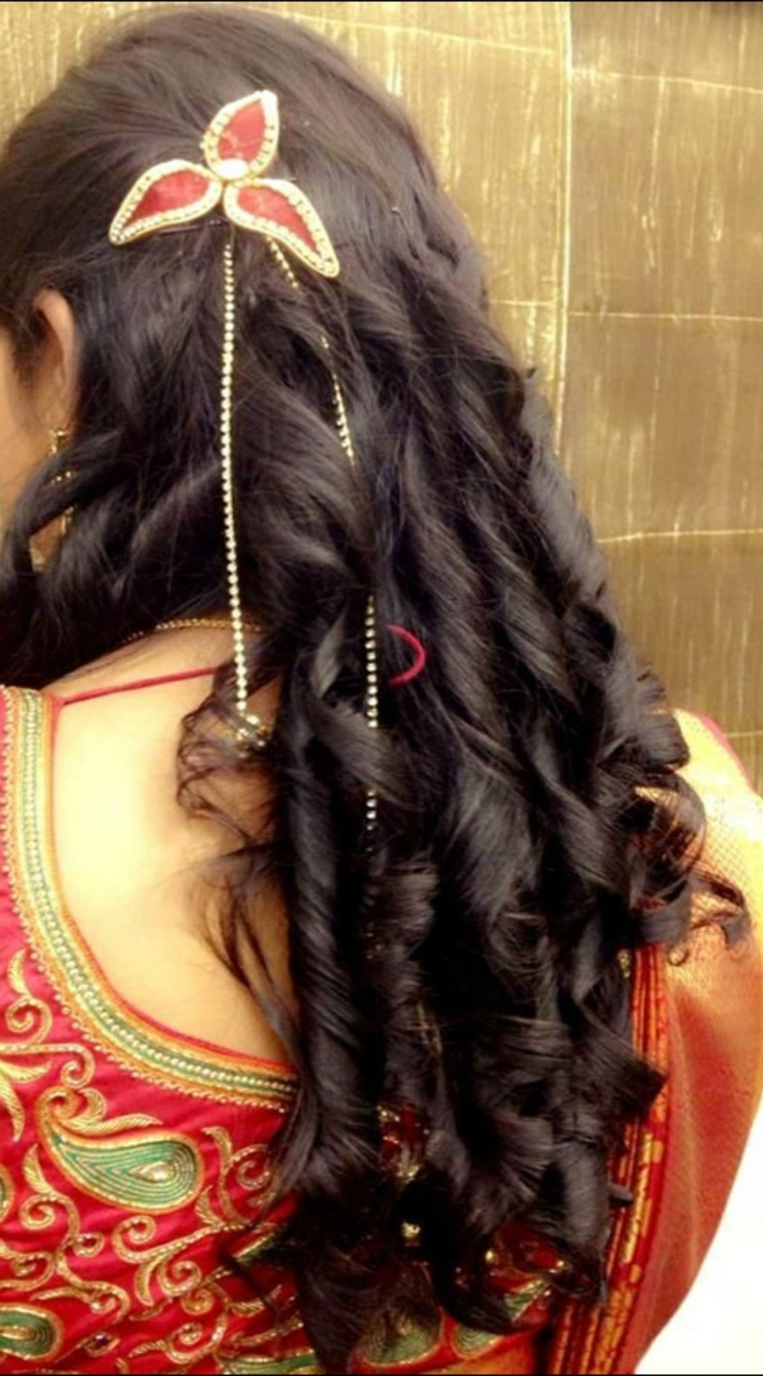 Trendy Braid Hairstyles For Reception Within 5 Gorgeous Contemporary Indian Bridal Hairstyles For Reception (View 14 of 15)