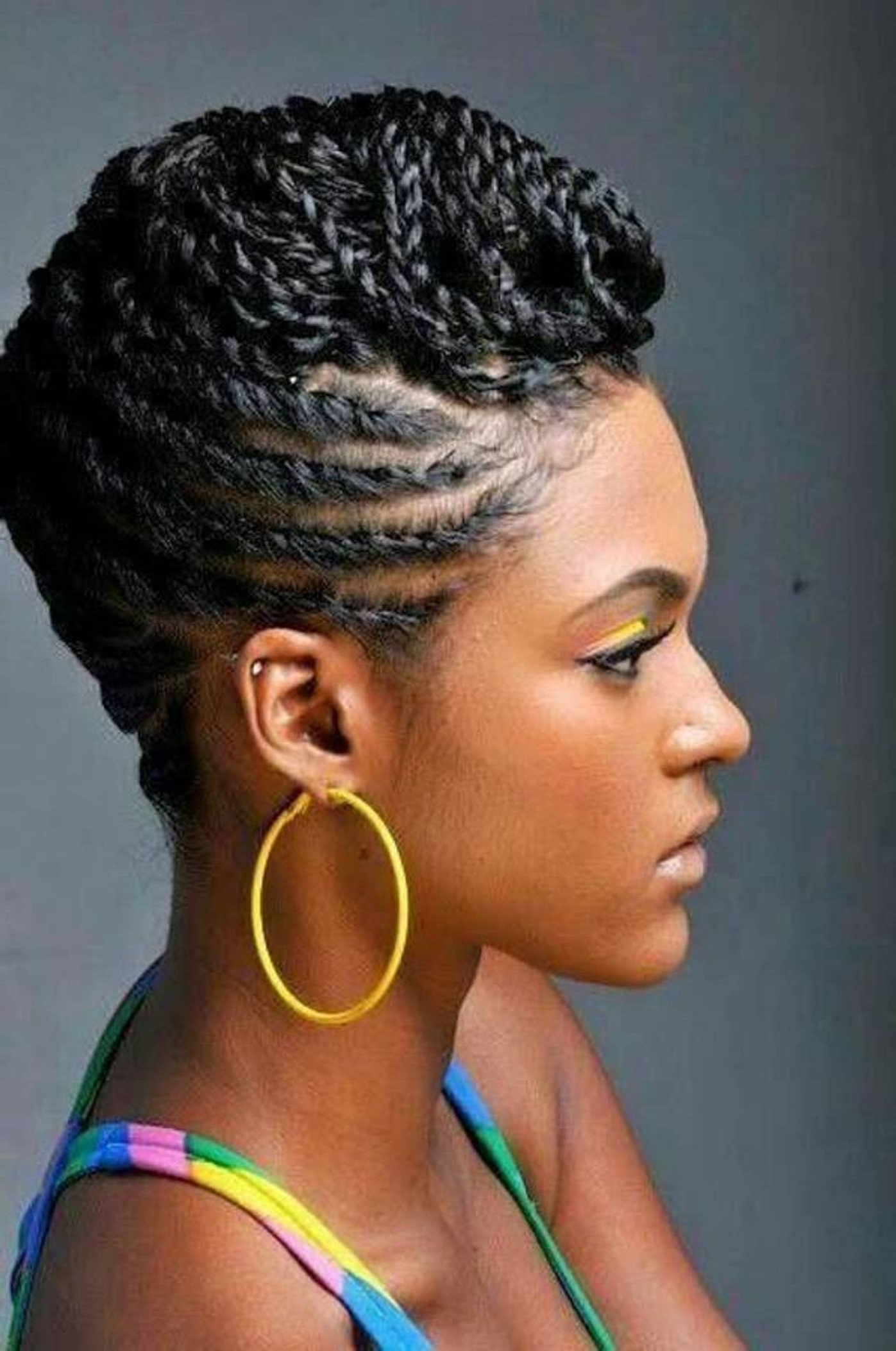 Trendy Braided Hairstyles For Afro Hair In 25 Updo Hairstyles For Black Women (View 8 of 15)