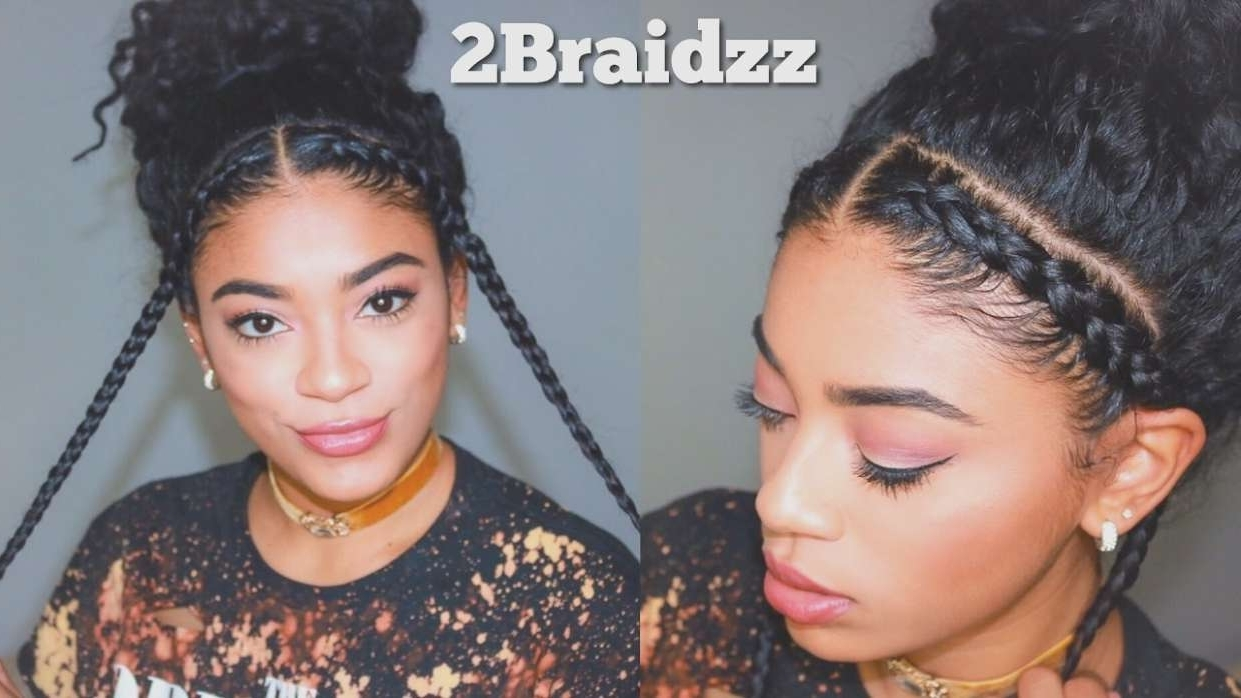 Trendy Braided Hairstyles For Naturally Curly Hair Within Braid Hairstyles Natural Hair Two Braid Hairstyles Natural Curly (View 12 of 15)