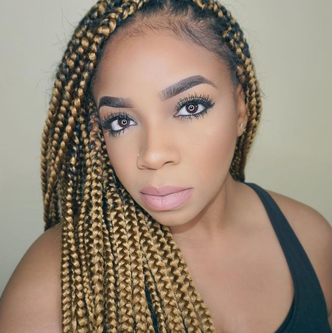 Trendy Braided Hairstyles With Color In Janet Collection Banana Braiding Hair – Color  (View 12 of 15)