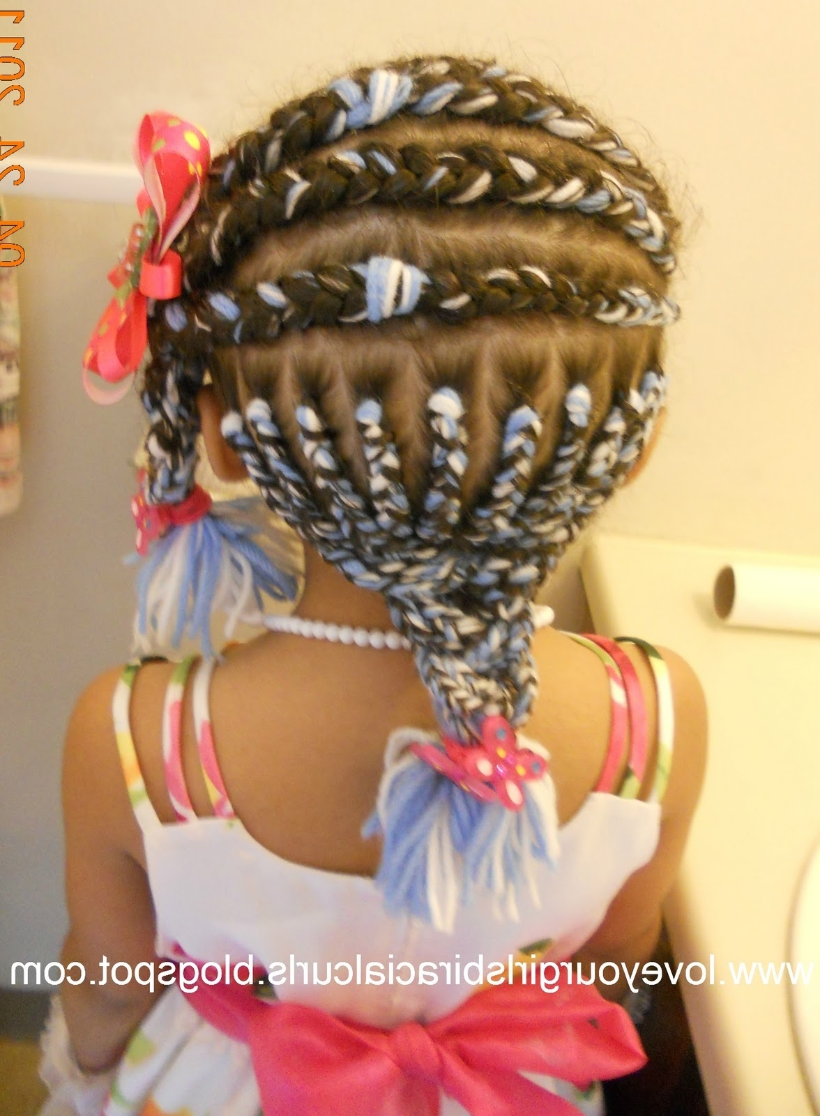 Trendy Easter Braid Hairstyles Regarding Love Your Girls Biracial Curls: Easter Hairstyle Diva R's Bday Yarn (View 14 of 15)