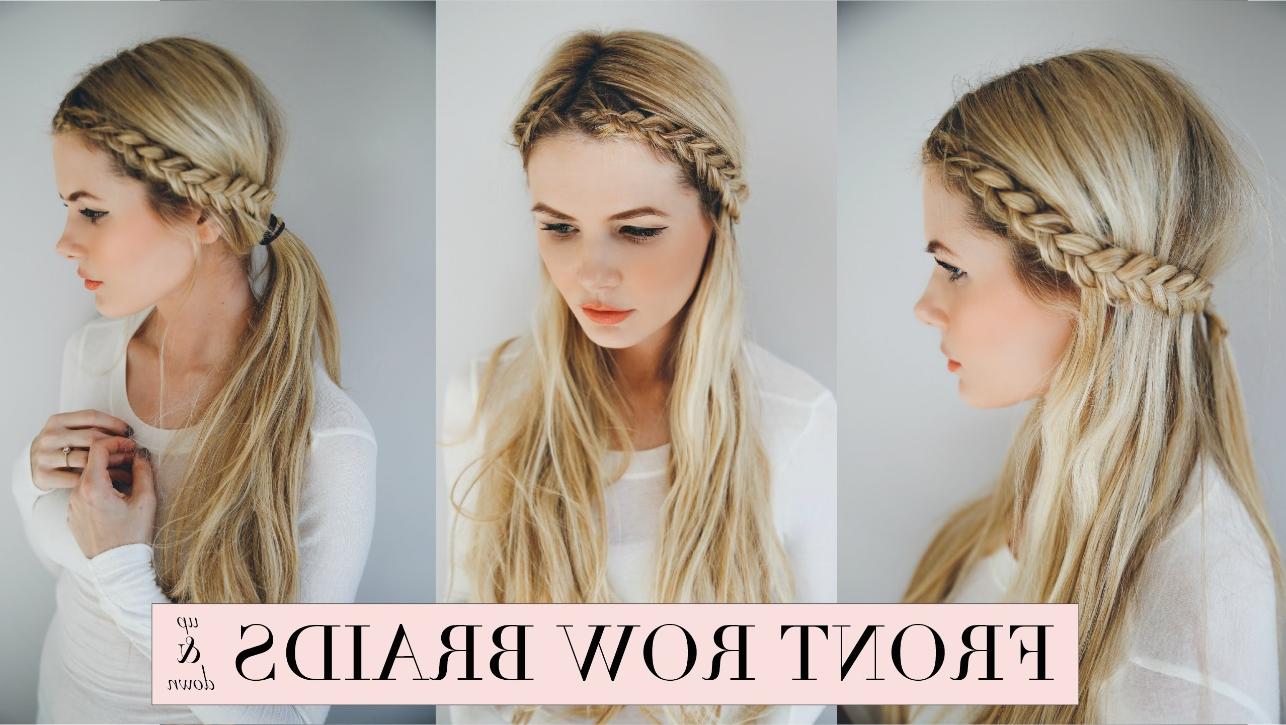 Featured Photo of Braided Hairstyles In The Front