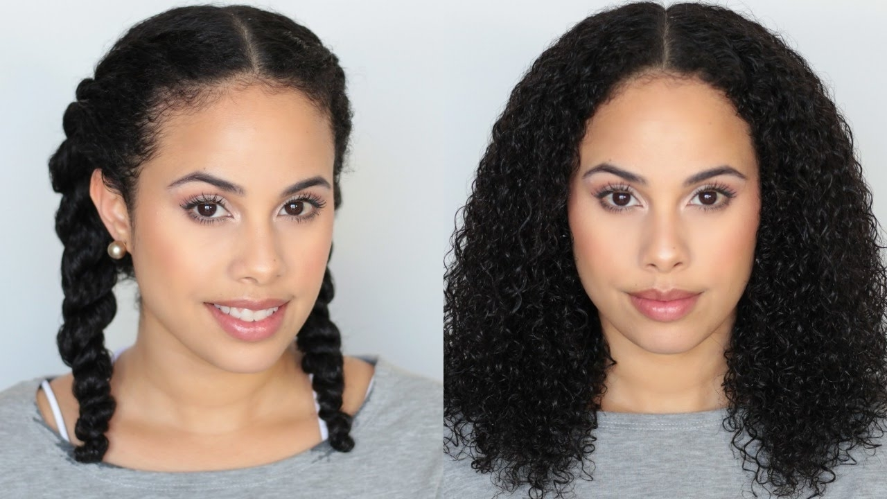 Twist Braids On Natural Curly Hair + Hair Recovery – Youtube Pertaining To Trendy Braided Hairstyles For Naturally Curly Hair (View 6 of 15)