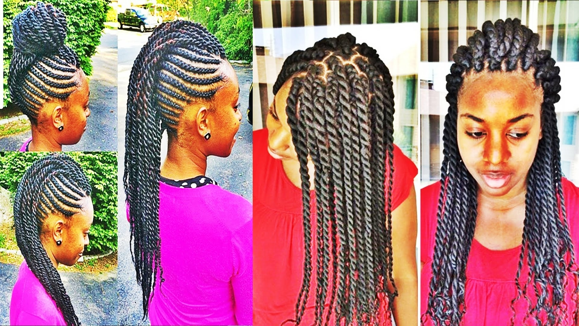 Versatile Braids And Twists Hairstyles For African American Womens Intended For Best And Newest Braided Rasta Hairstyles (Gallery 6 of 15)