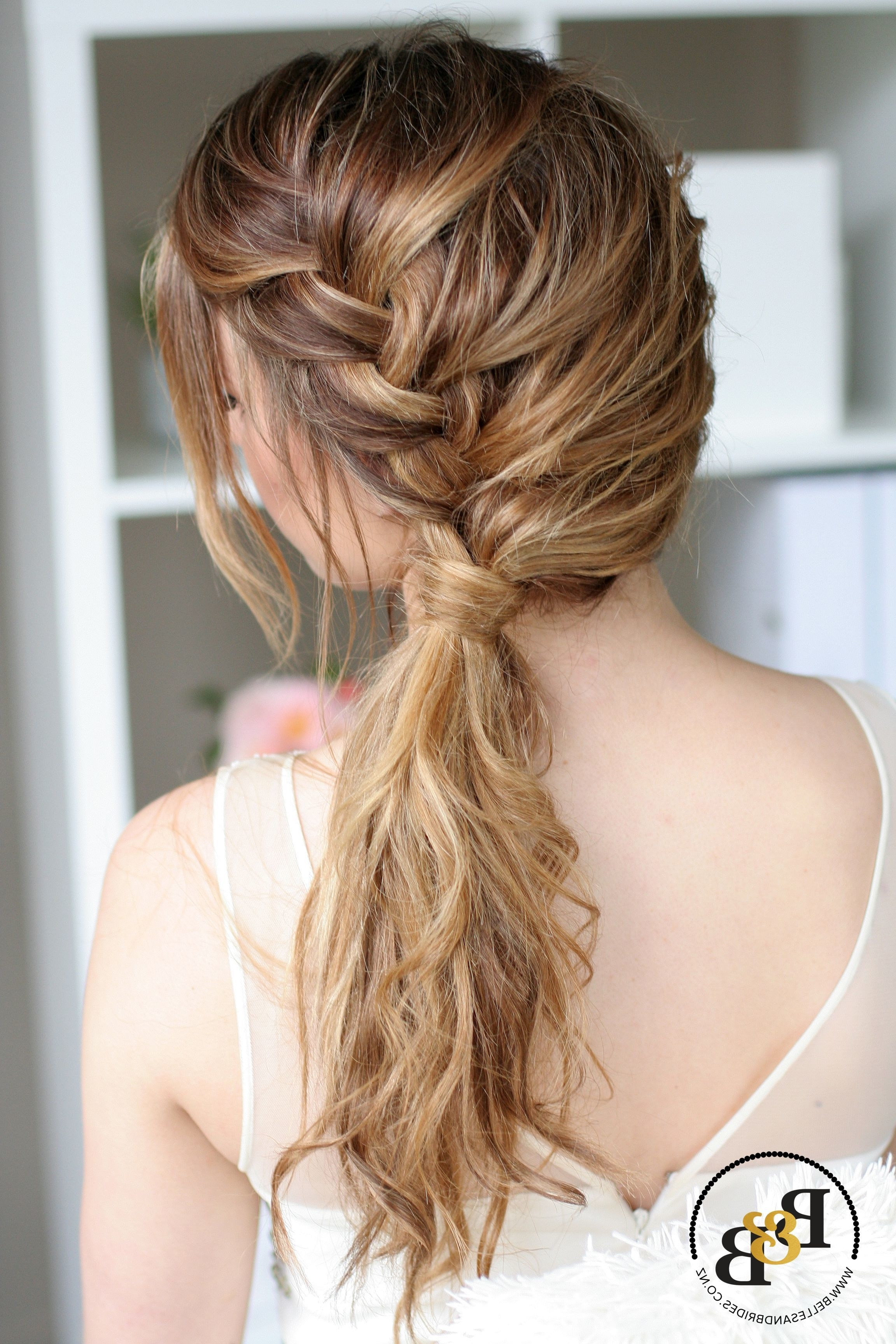 Wedding Hair Down With Braid #bridesmaidhairwithbraid Throughout Popular Braided Hairstyles For Bridesmaid (View 15 of 15)