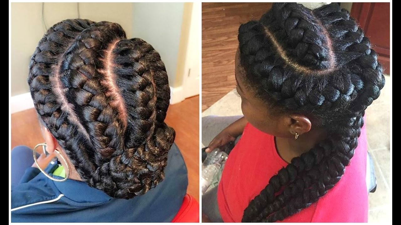 Well Known Braided Hairstyles For Dark Hair With Goddess Braided Hairstyles For Black Women – Youtube (View 13 of 15)
