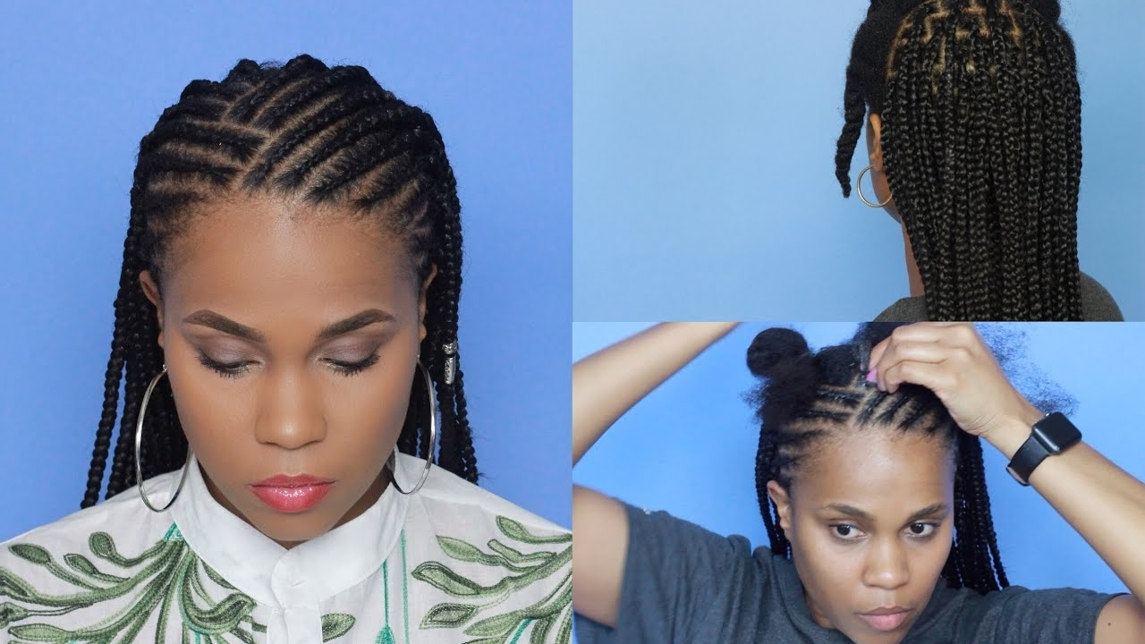 Well Known Braided Hairstyles For Vacation In Cornrows X Box Braids: Fun Vacation Hairstyle – Youtube (View 8 of 15)
