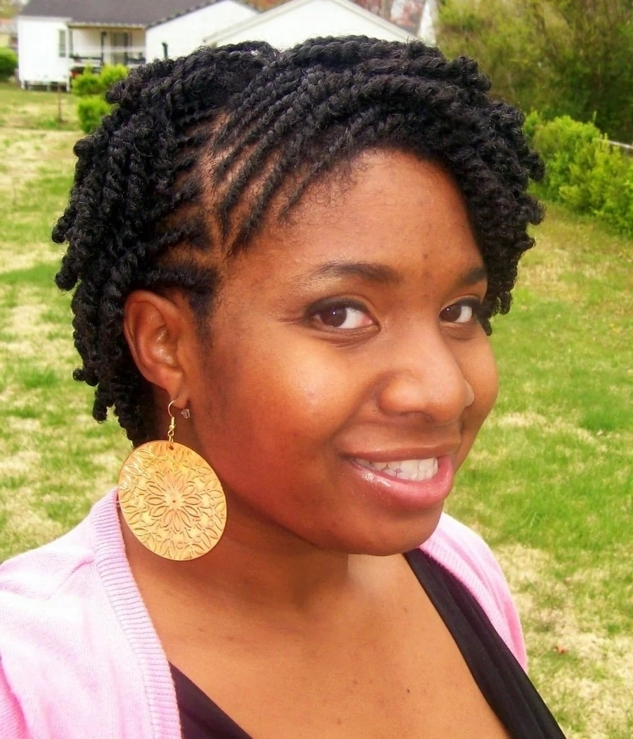 Well Known Braided Natural Hairstyles For Short Hair Inside Natural Hair Twist Styles For Long And Short Hair ▷ Naija (View 14 of 15)