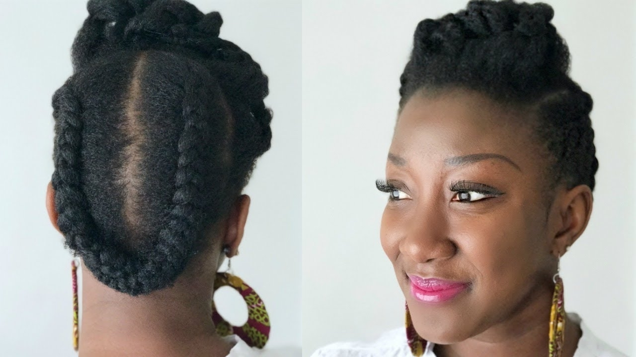 Well Known Quick Braided Hairstyles For Natural Hair Pertaining To Quick & Easy Natural Hair Style (View 15 of 15)